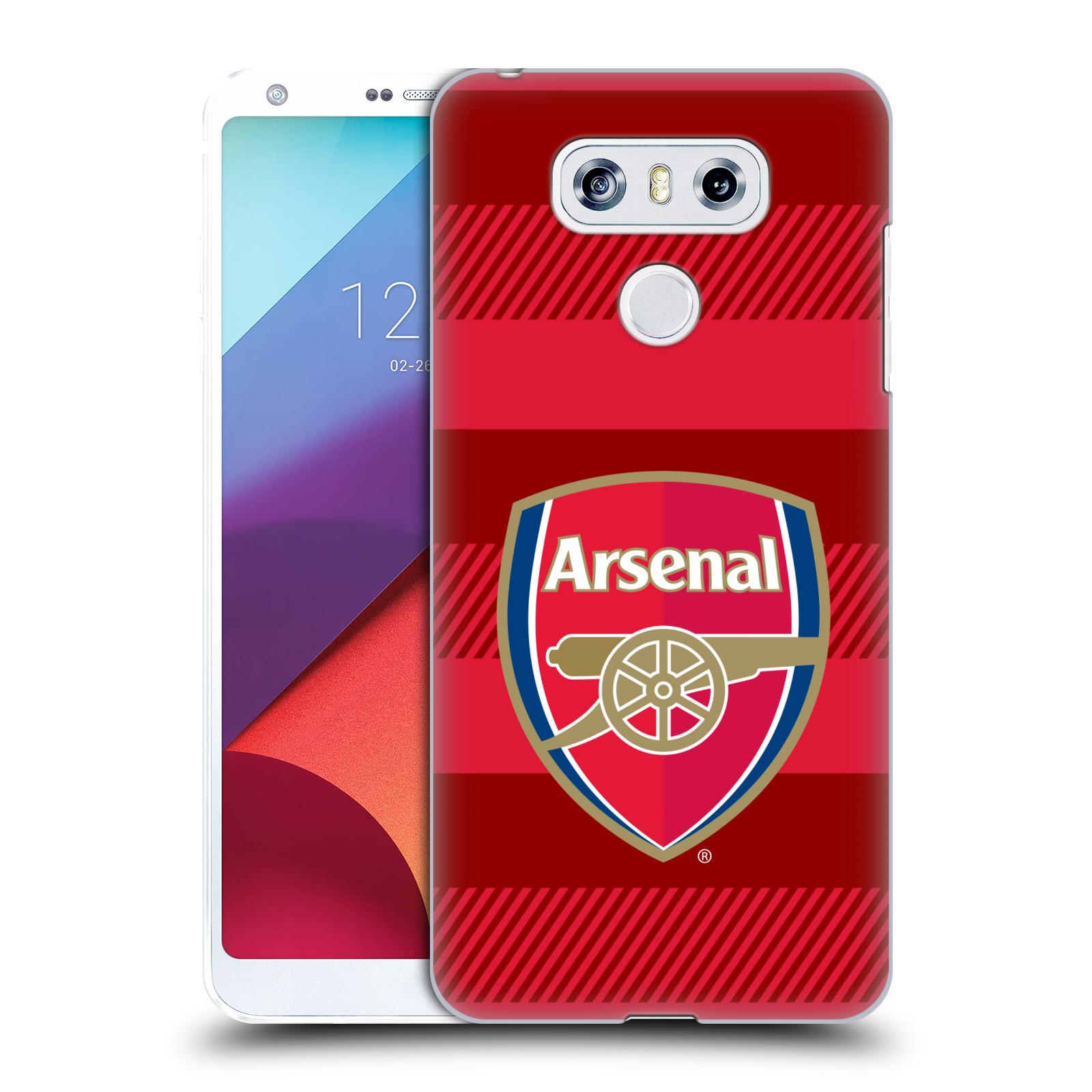 Plastové pouzdro na mobil LG G6 - Head Case - Arsenal FC - Logo s pruhy
