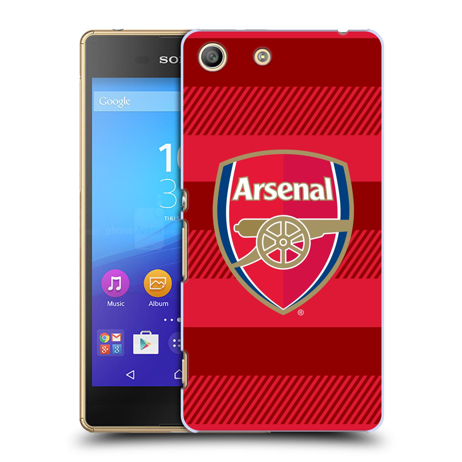 Plastové pouzdro na mobil Sony Xperia M5 - Head Case - Arsenal FC - Logo s pruhy