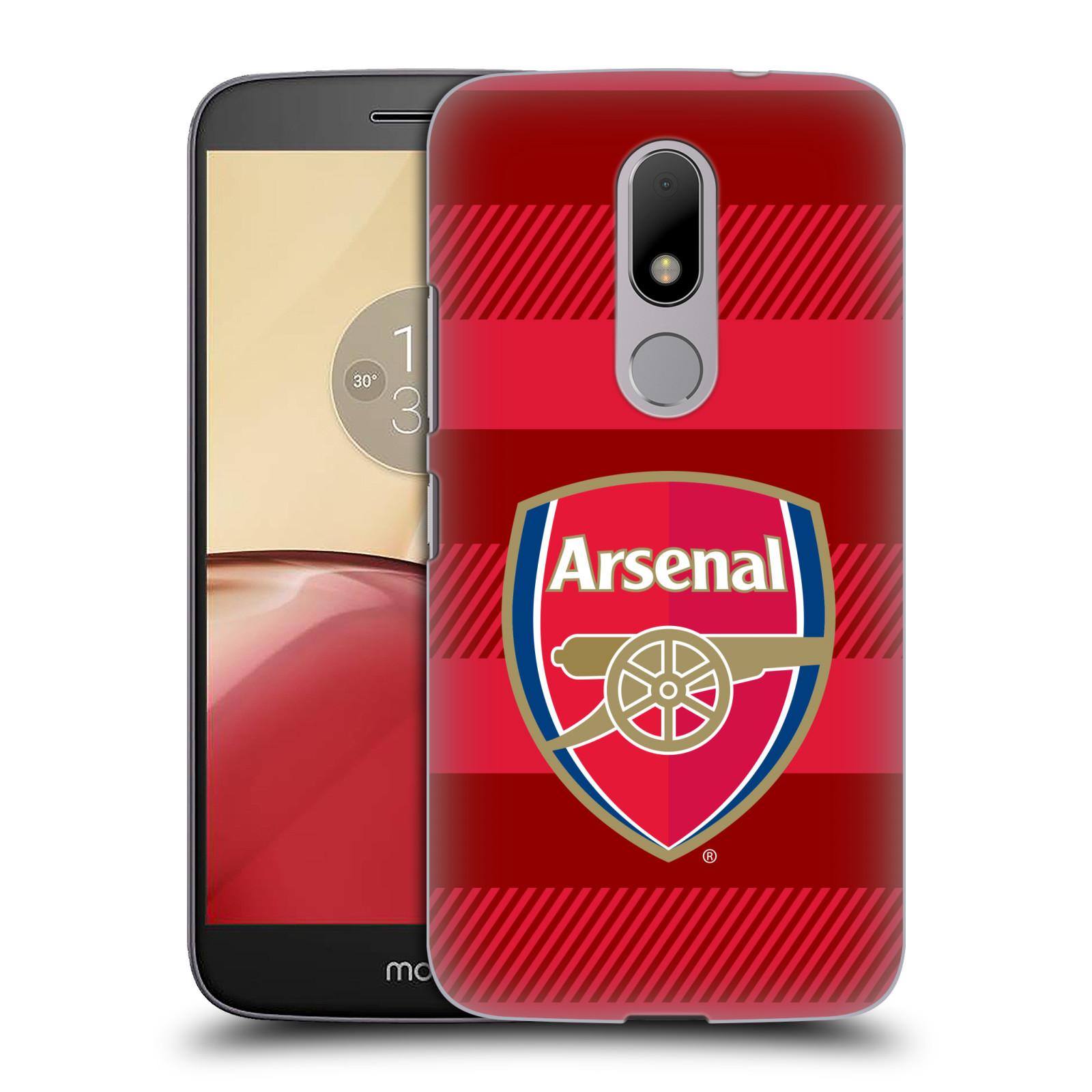 Plastové pouzdro na mobil Lenovo Moto M - Head Case - Arsenal FC - Logo s pruhy