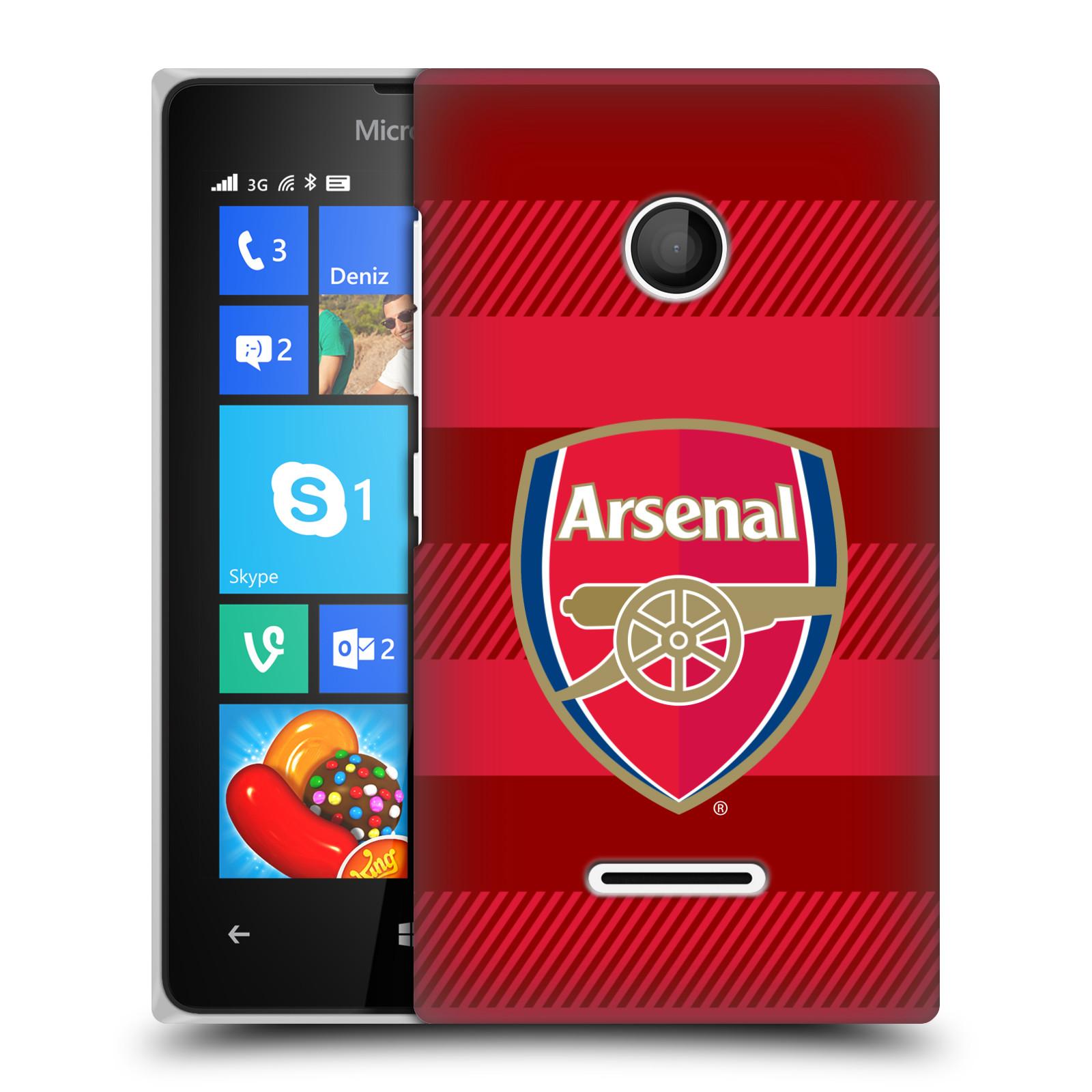 Plastové pouzdro na mobil Microsoft Lumia 435 - Head Case - Arsenal FC - Logo s pruhy