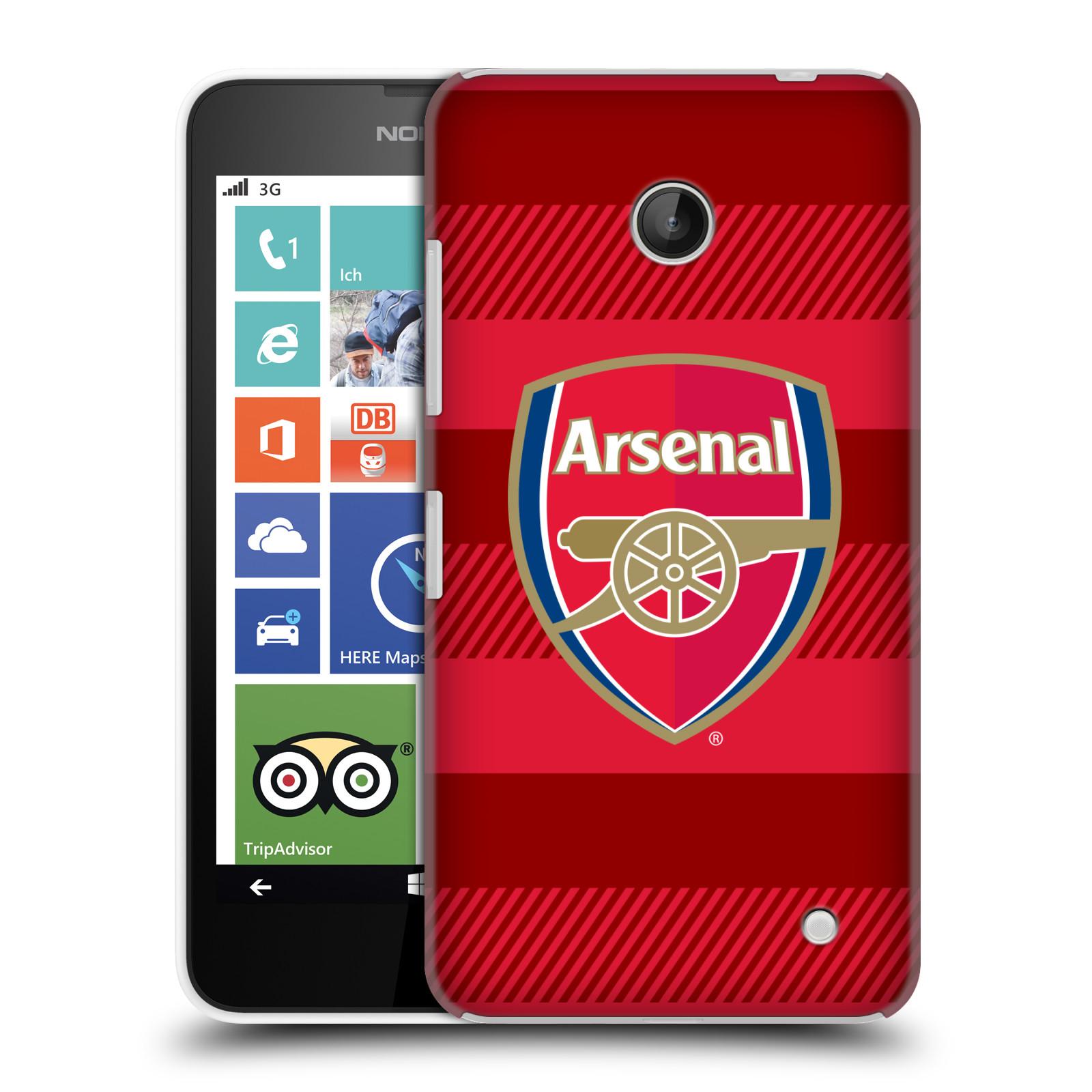 Plastové pouzdro na mobil Nokia Lumia 630 - Head Case - Arsenal FC - Logo s pruhy
