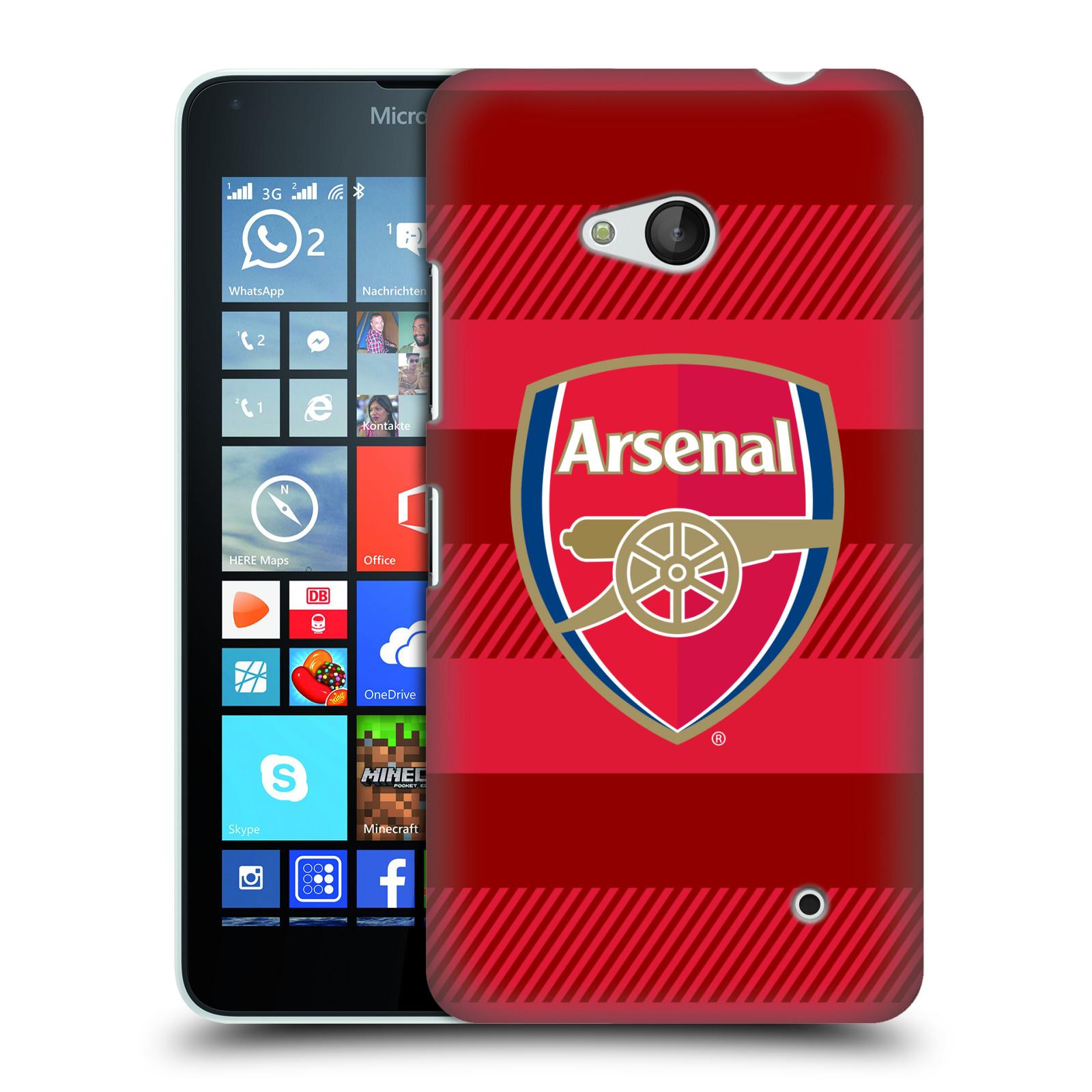 Plastové pouzdro na mobil Microsoft Lumia 640 - Head Case - Arsenal FC - Logo s pruhy