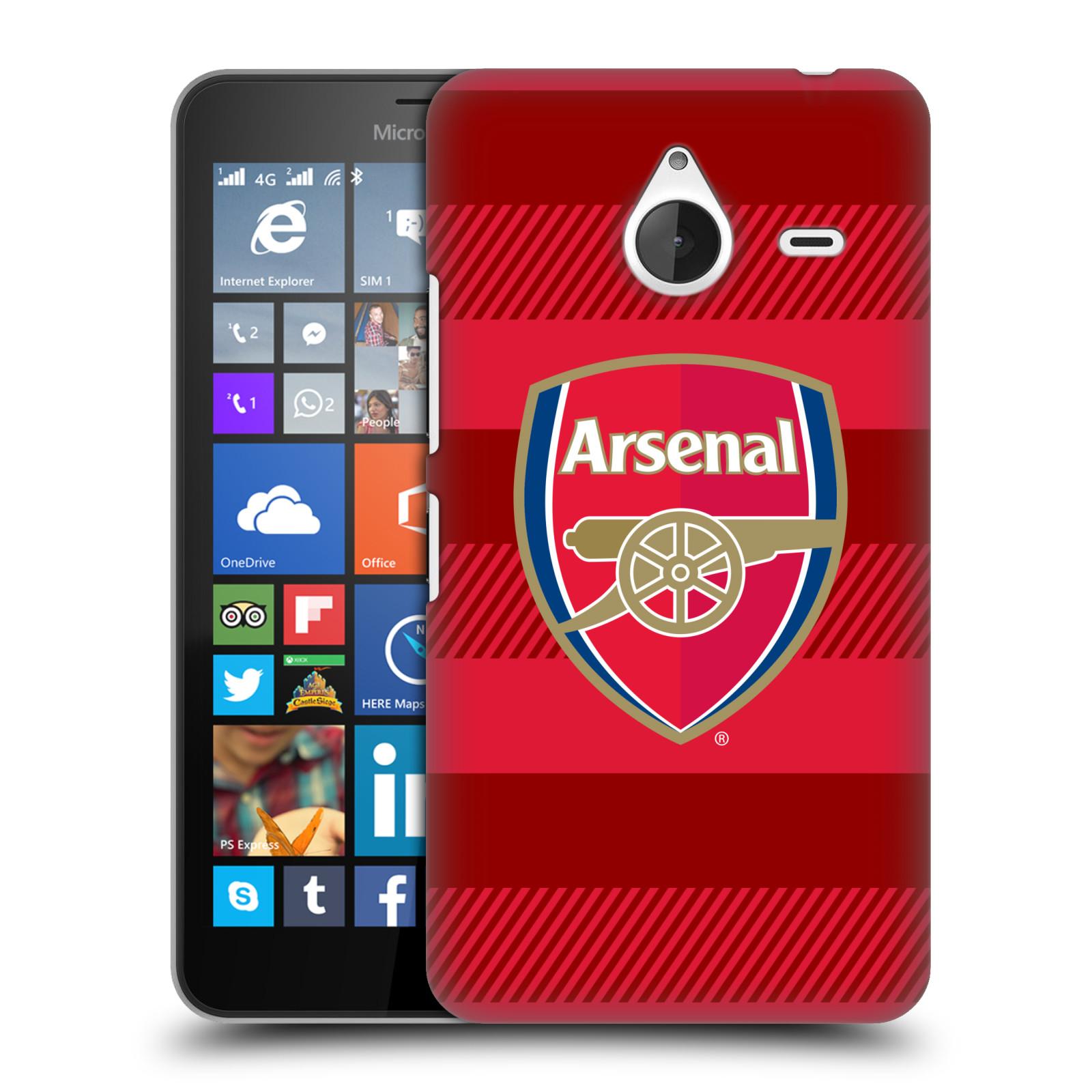 Plastové pouzdro na mobil Microsoft Lumia 640 XL - Head Case - Arsenal FC - Logo s pruhy