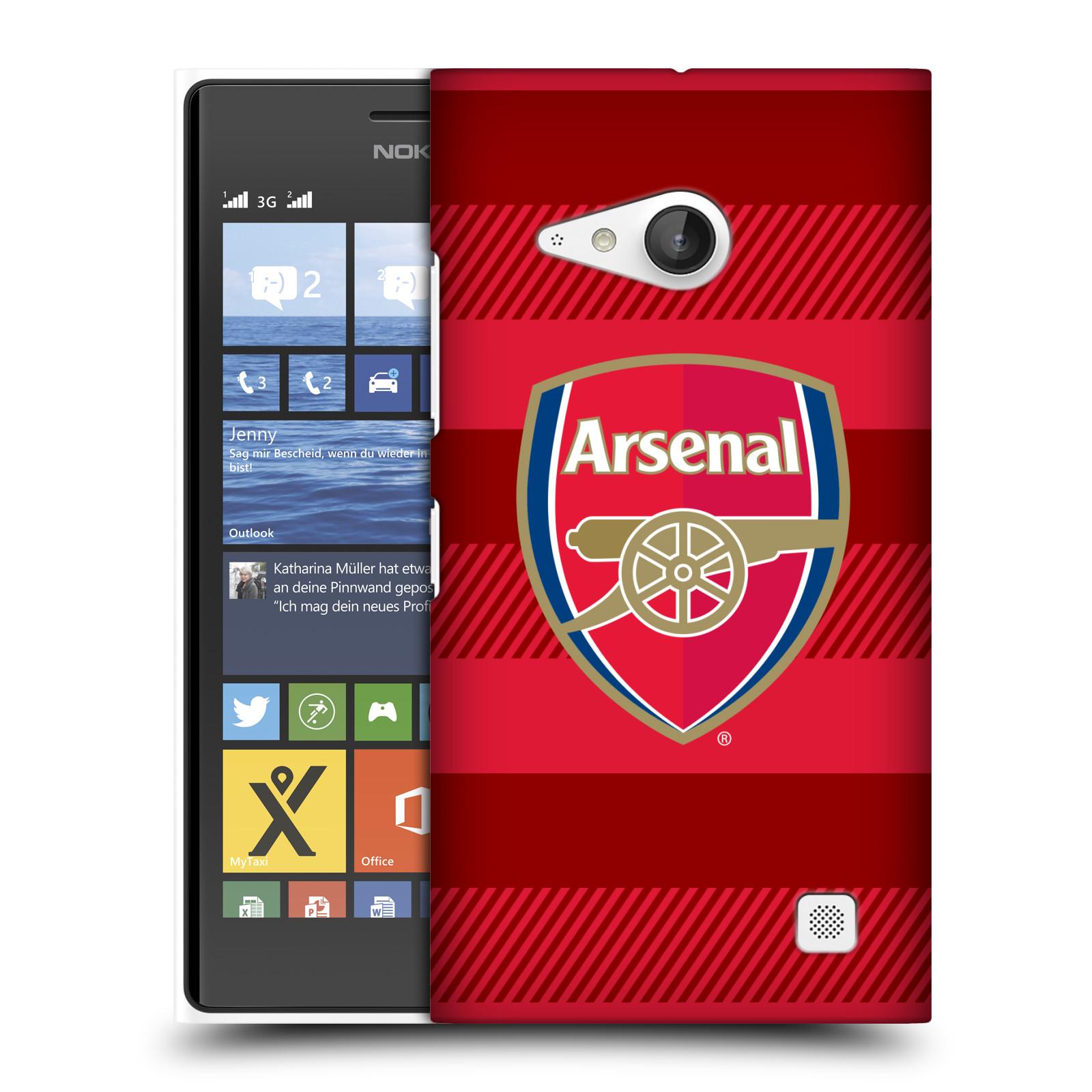Plastové pouzdro na mobil Nokia Lumia 735 - Head Case - Arsenal FC - Logo s pruhy