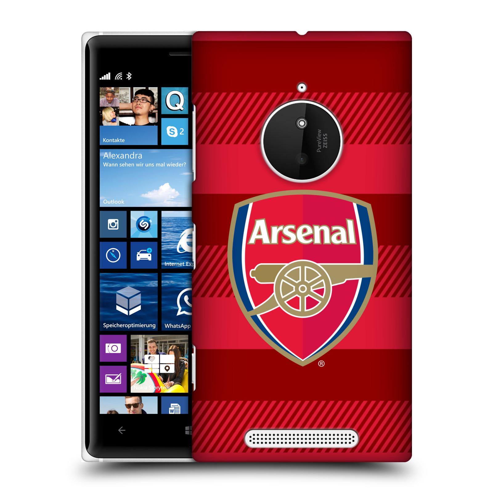 Plastové pouzdro na mobil Nokia Lumia 830 - Head Case - Arsenal FC - Logo s pruhy