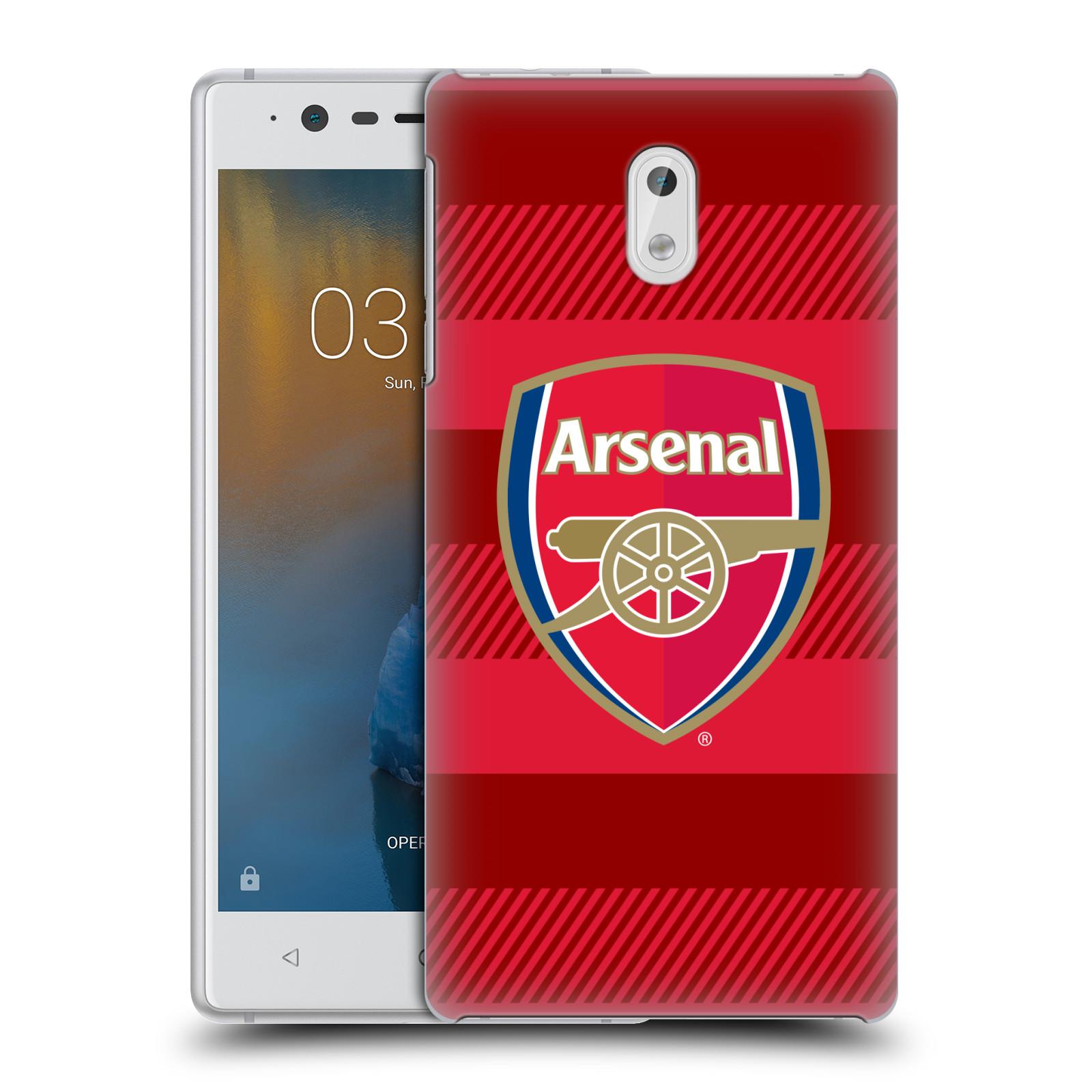 Plastové pouzdro na mobil Nokia 3 Head Case - Arsenal FC - Logo s pruhy