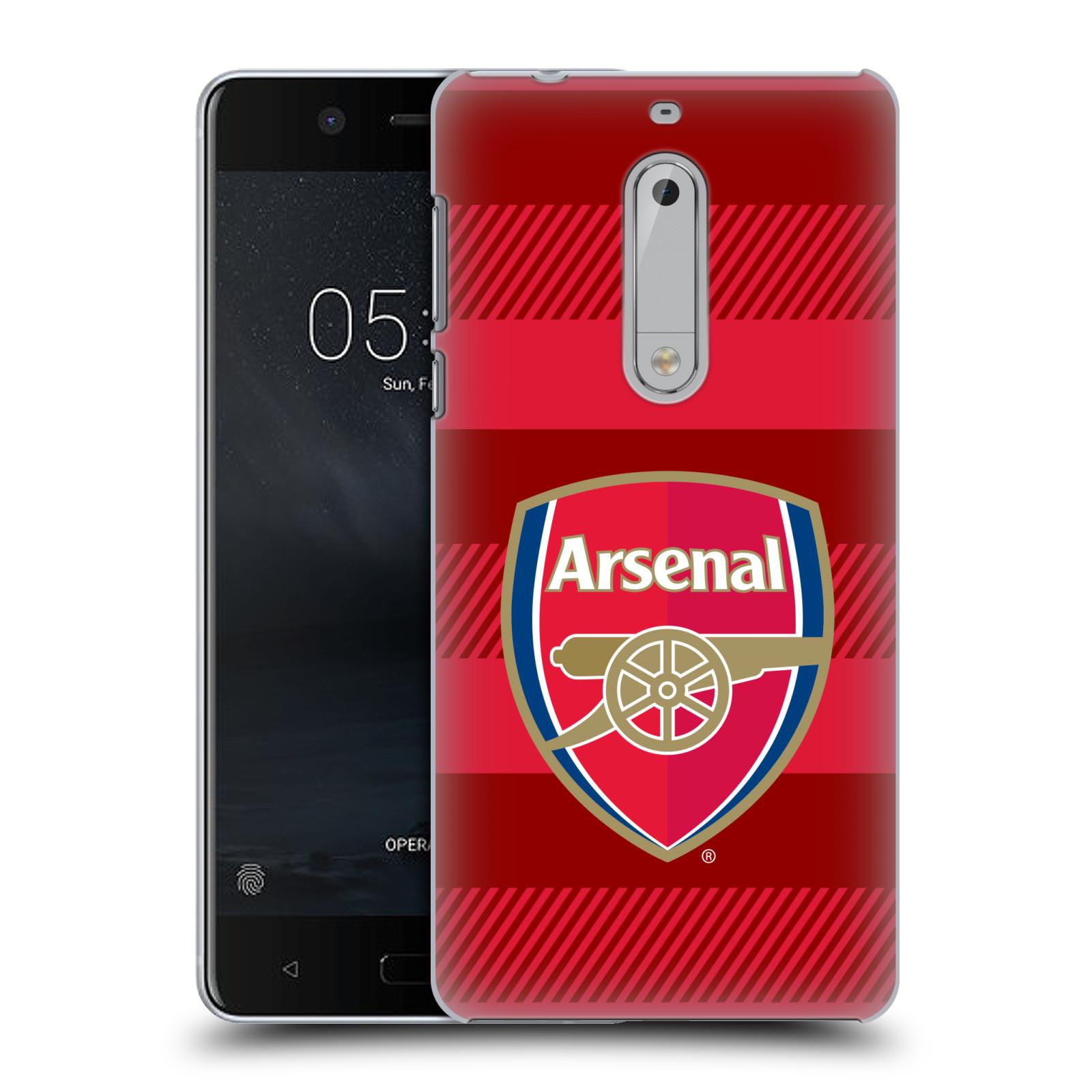 Plastové pouzdro na mobil Nokia 5 Head Case - Arsenal FC - Logo s pruhy