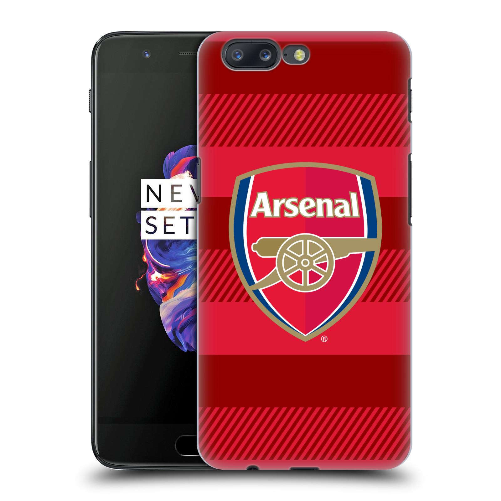 Plastové pouzdro na mobil OnePlus 5 - Head Case - Arsenal FC - Logo s pruhy