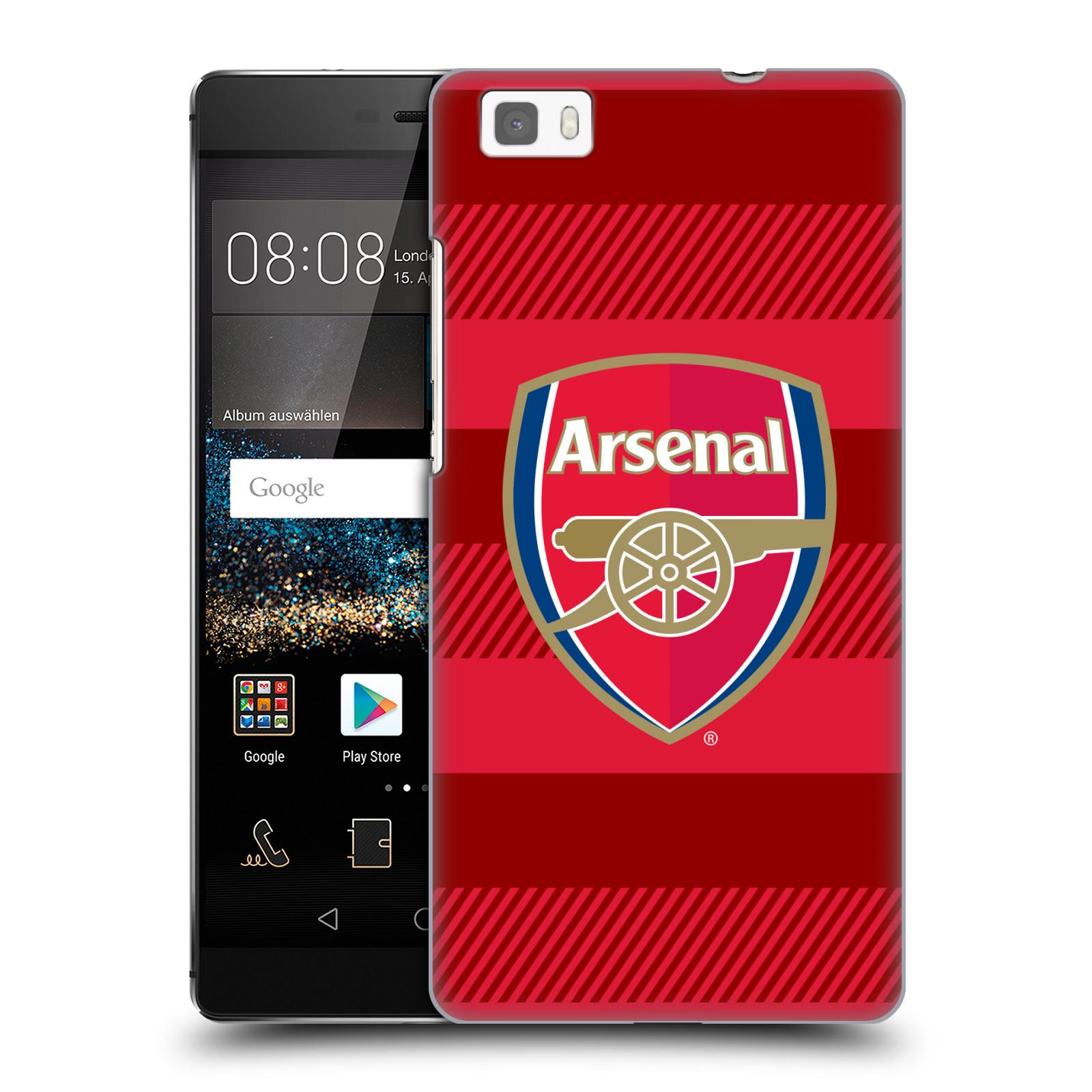 Plastové pouzdro na mobil Huawei P8 Lite - Head Case - Arsenal FC - Logo s pruhy