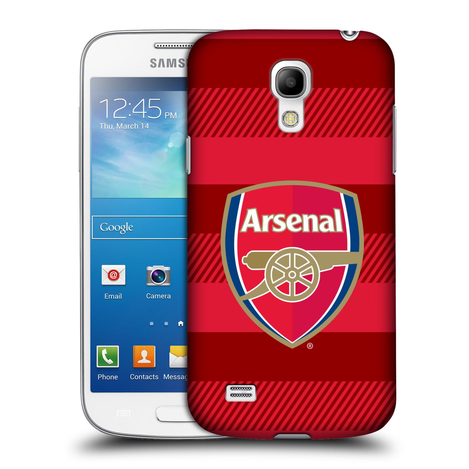 Plastové pouzdro na mobil Samsung Galaxy S4 Mini - Head Case - Arsenal FC - Logo s pruhy