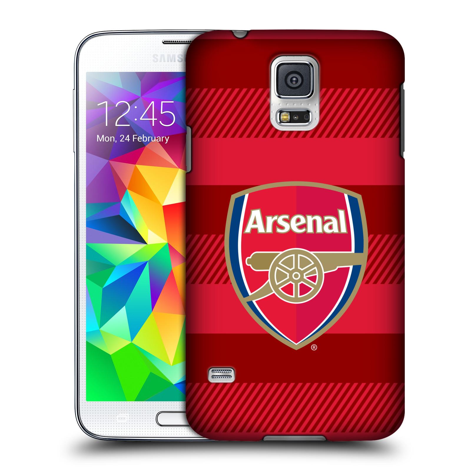 Plastové pouzdro na mobil Samsung Galaxy S5 - Head Case - Arsenal FC - Logo s pruhy