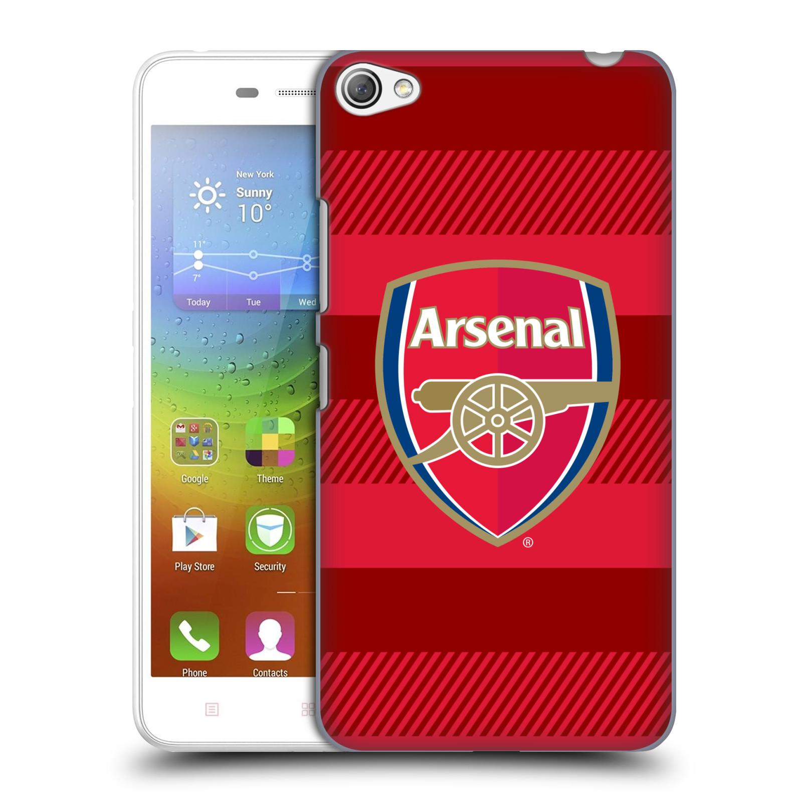 Plastové pouzdro na mobil Lenovo S60 - Head Case - Arsenal FC - Logo s pruhy