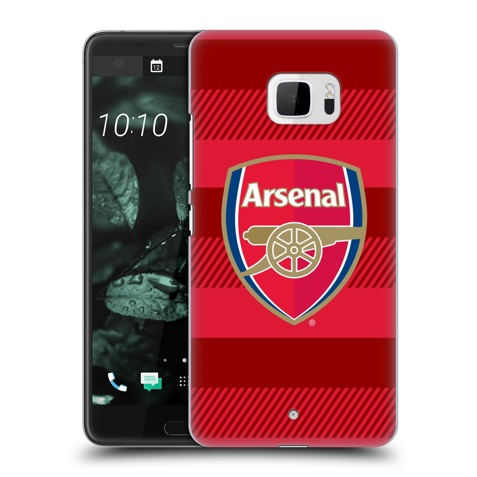 Plastové pouzdro na mobil HTC U Ultra Head Case - Arsenal FC - Logo s pruhy