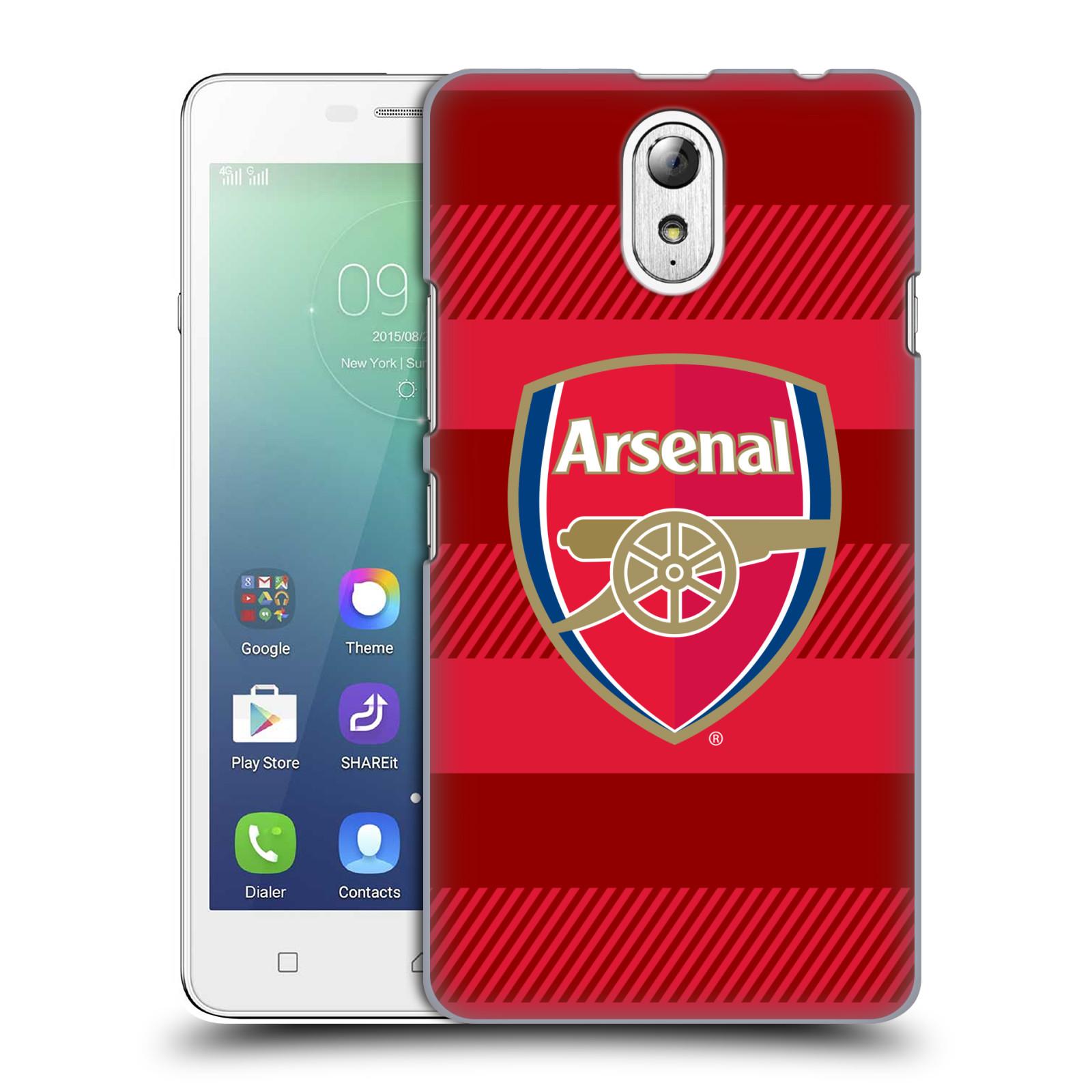 Plastové pouzdro na mobil Lenovo Vibe P1m - Head Case - Arsenal FC - Logo s pruhy
