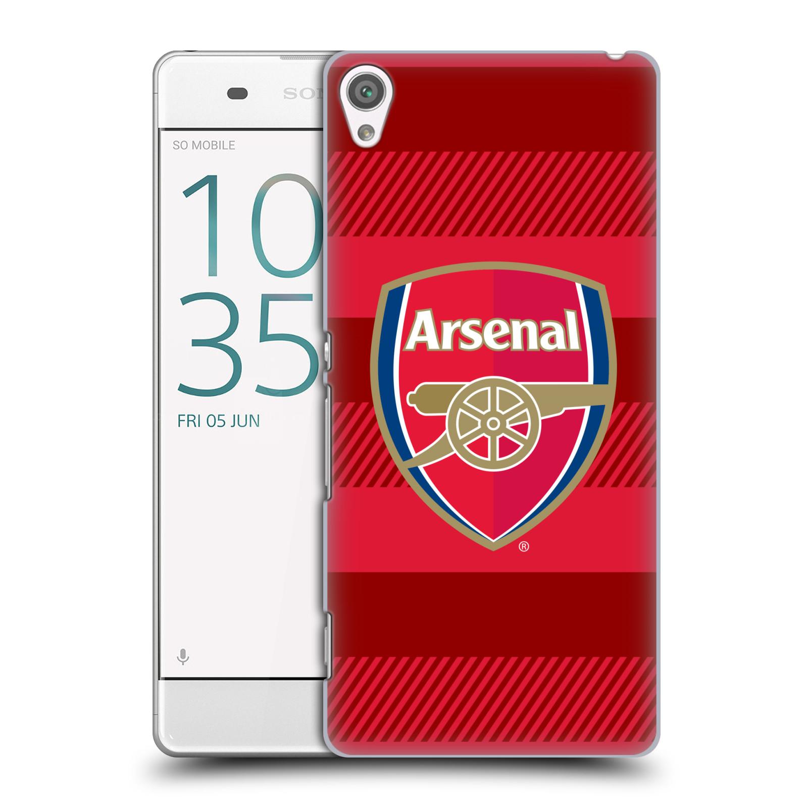 Plastové pouzdro na mobil Sony Xperia XA - Head Case - Arsenal FC - Logo s pruhy