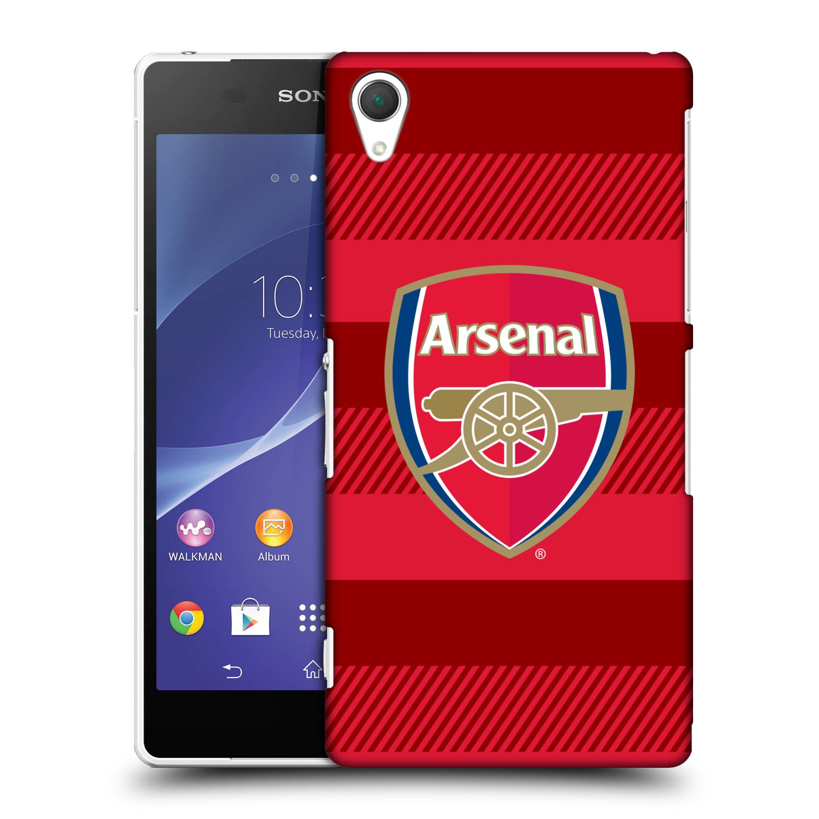 Plastové pouzdro na mobil Sony Xperia Z2 D6503 - Head Case - Arsenal FC - Logo s pruhy