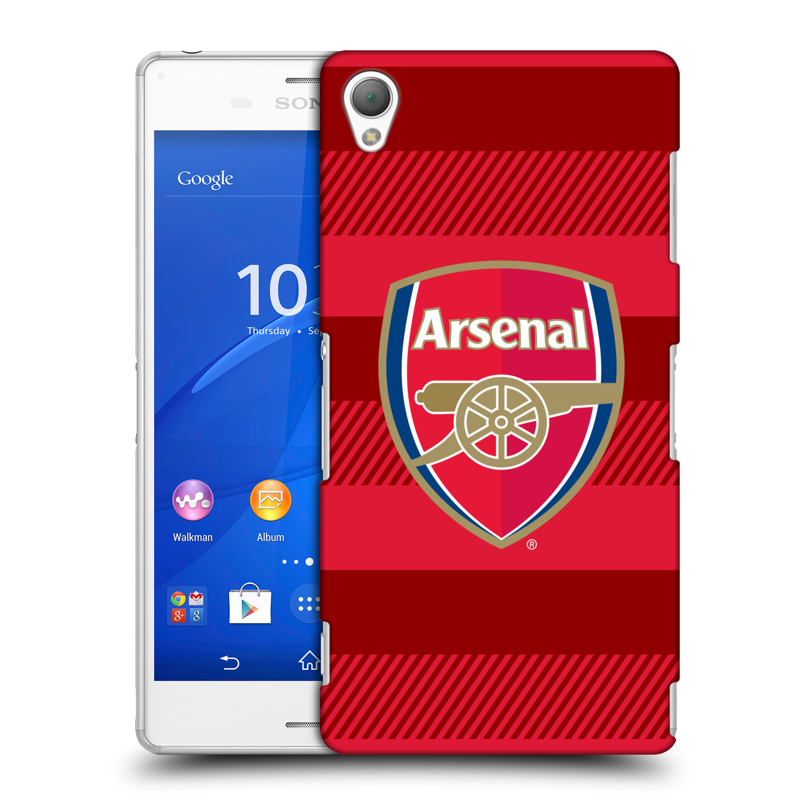 Plastové pouzdro na mobil Sony Xperia Z3 D6603 - Head Case - Arsenal FC - Logo s pruhy