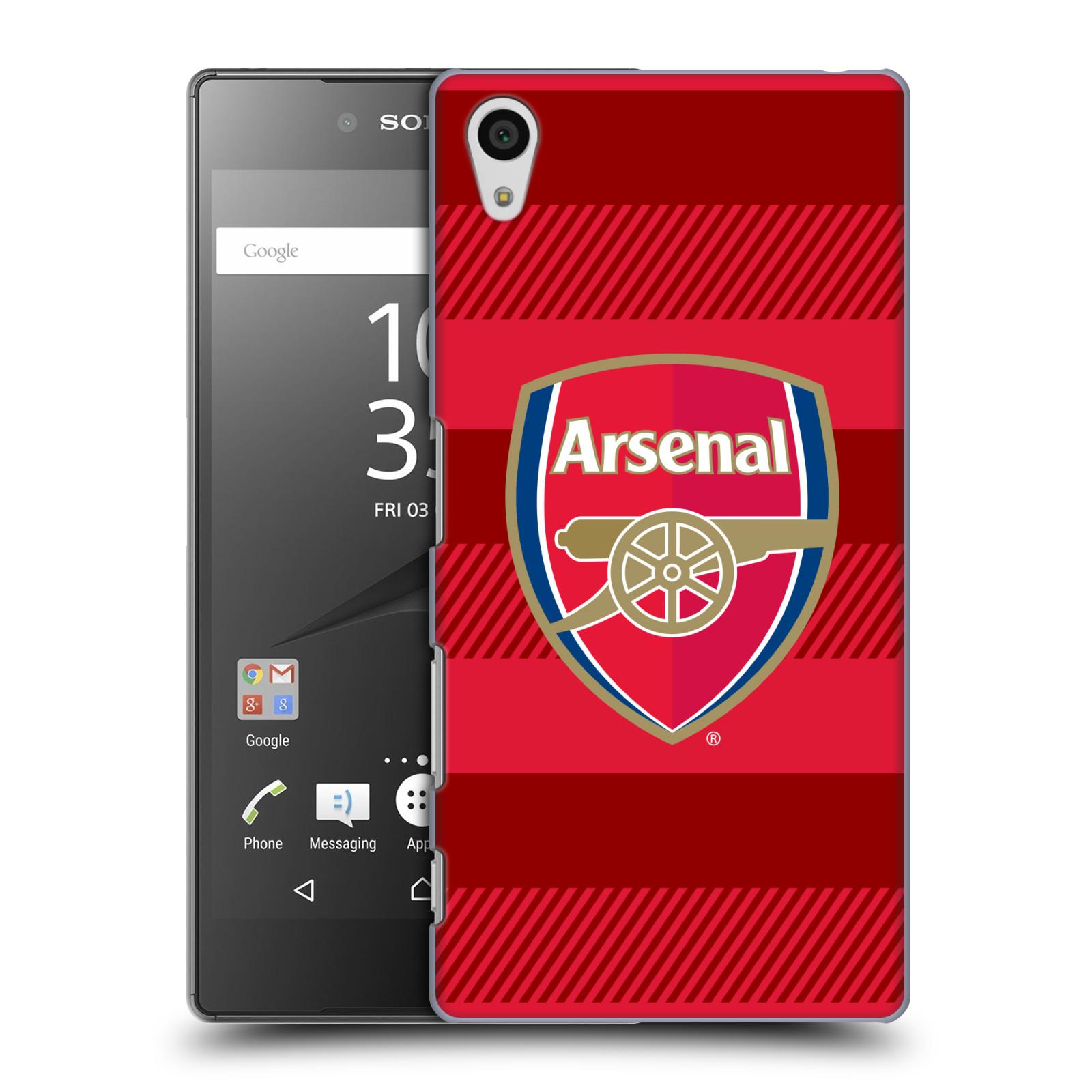 Plastové pouzdro na mobil Sony Xperia Z5 - Head Case - Arsenal FC - Logo s pruhy