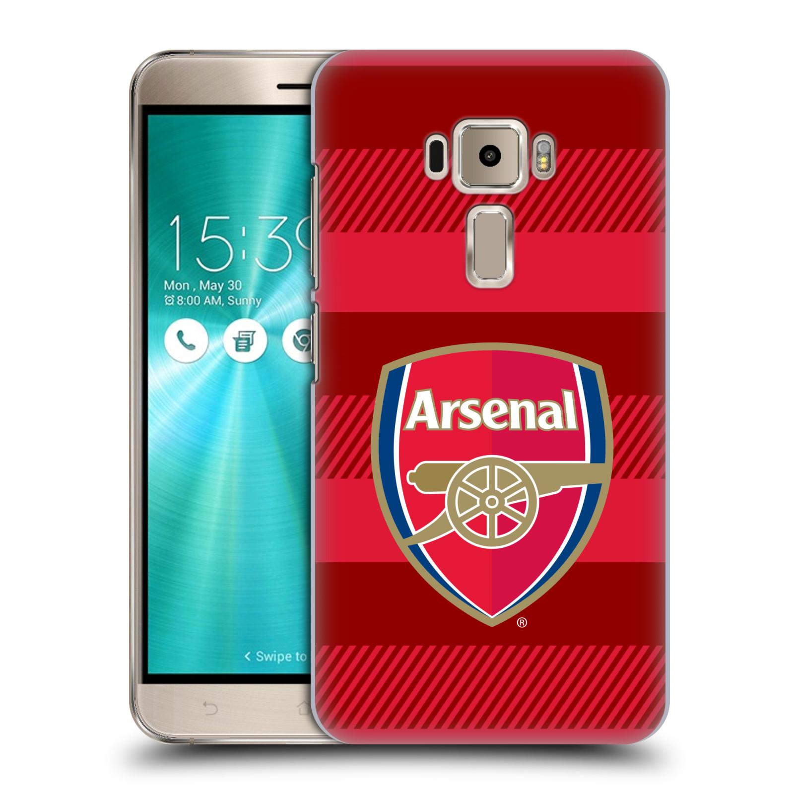 Plastové pouzdro na mobil Asus ZenFone 3 ZE520KL - Head Case - Arsenal FC - Logo s pruhy