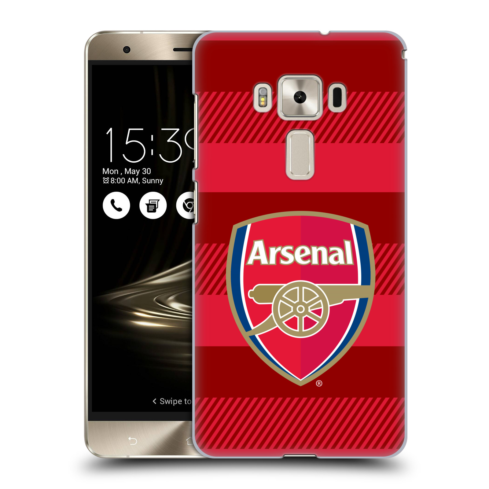 Plastové pouzdro na mobil Asus ZenFone 3 Deluxe ZS570KL - Head Case - Arsenal FC - Logo s pruhy