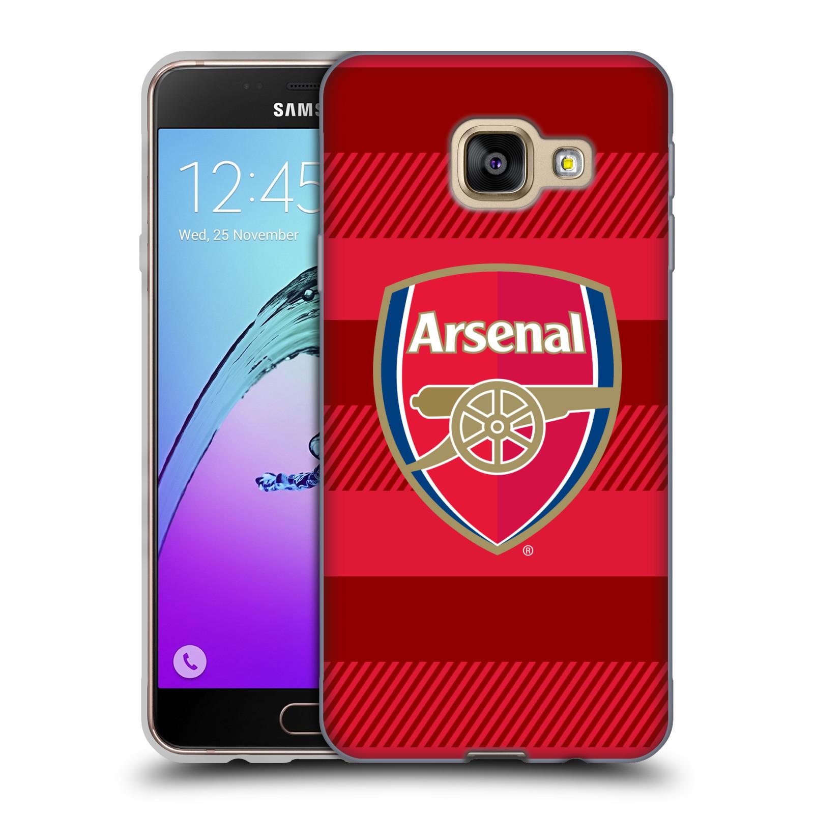 Silikonové pouzdro na mobil Samsung Galaxy A3 (2016) - Head Case - Arsenal FC - Logo s pruhy