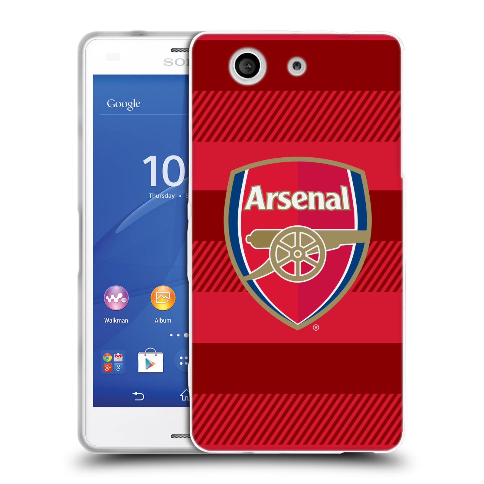 Silikonové pouzdro na mobil Sony Xperia Z3 Compact D5803 - Head Case - Arsenal FC - Logo s pruhy