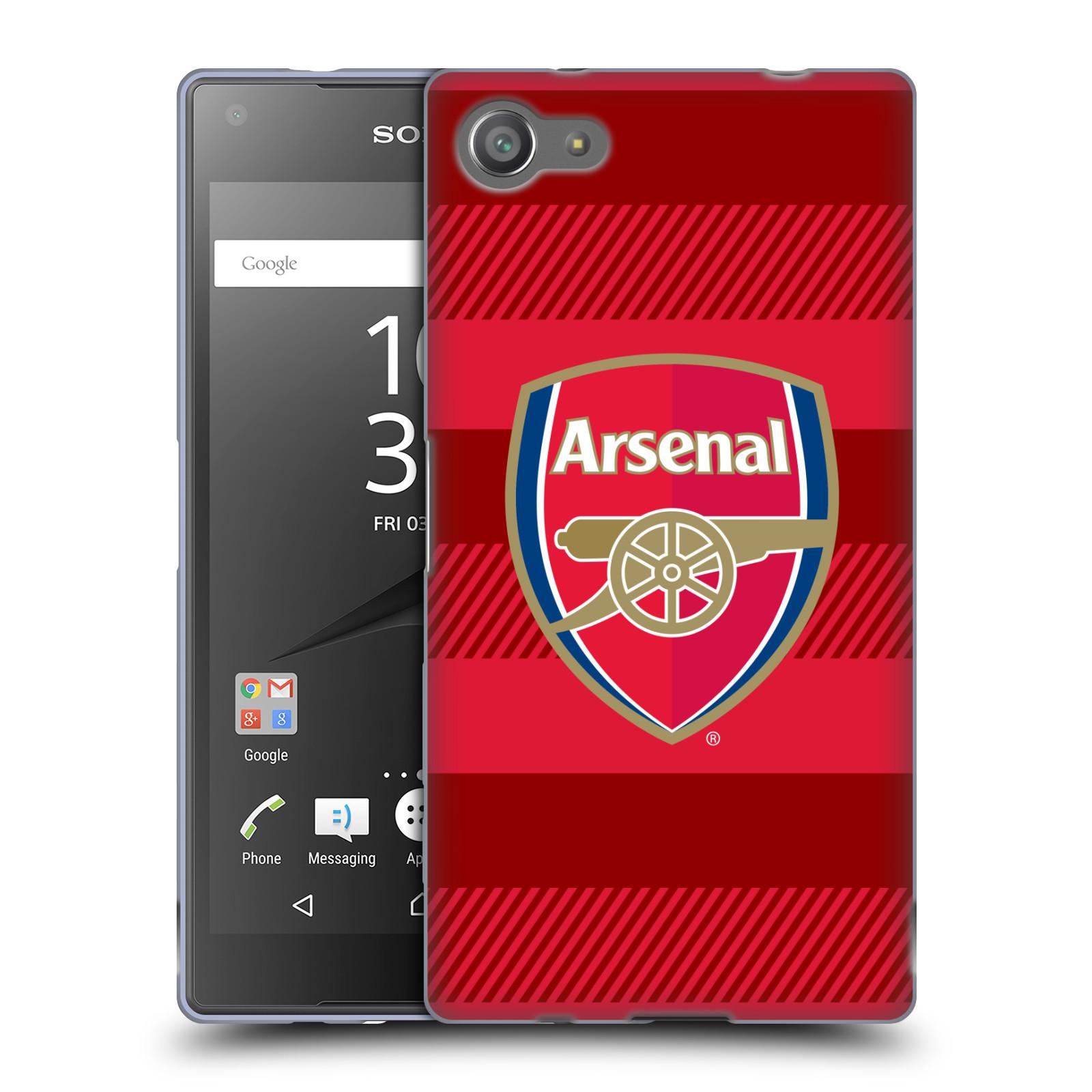 Silikonové pouzdro na mobil Sony Xperia Z5 Compact - Head Case - Arsenal FC - Logo s pruhy