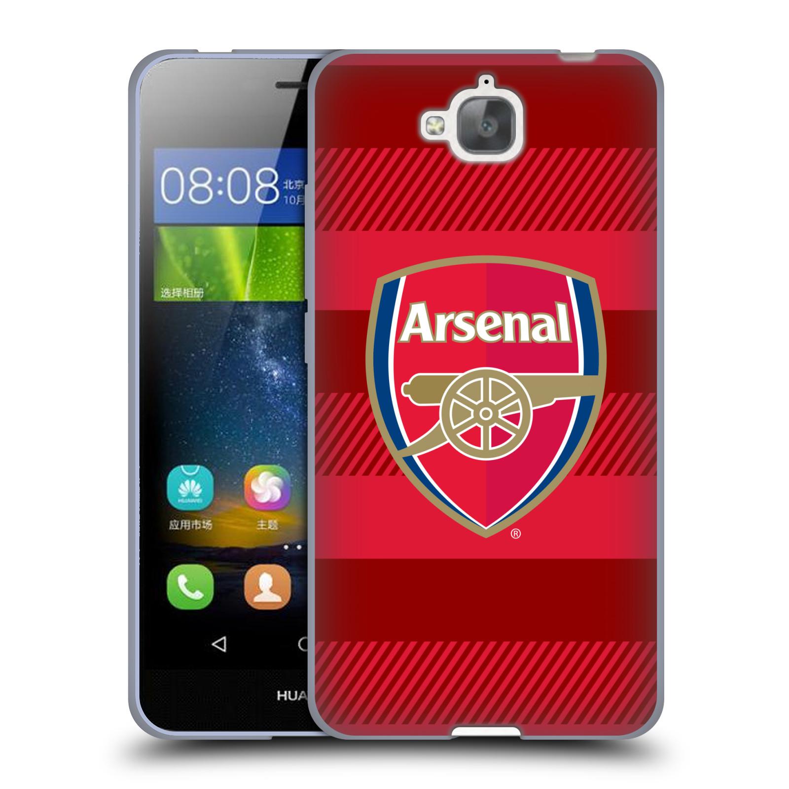 Silikonové pouzdro na mobil Huawei Y6 Pro Dual Sim - Head Case - Arsenal FC - Logo s pruhy