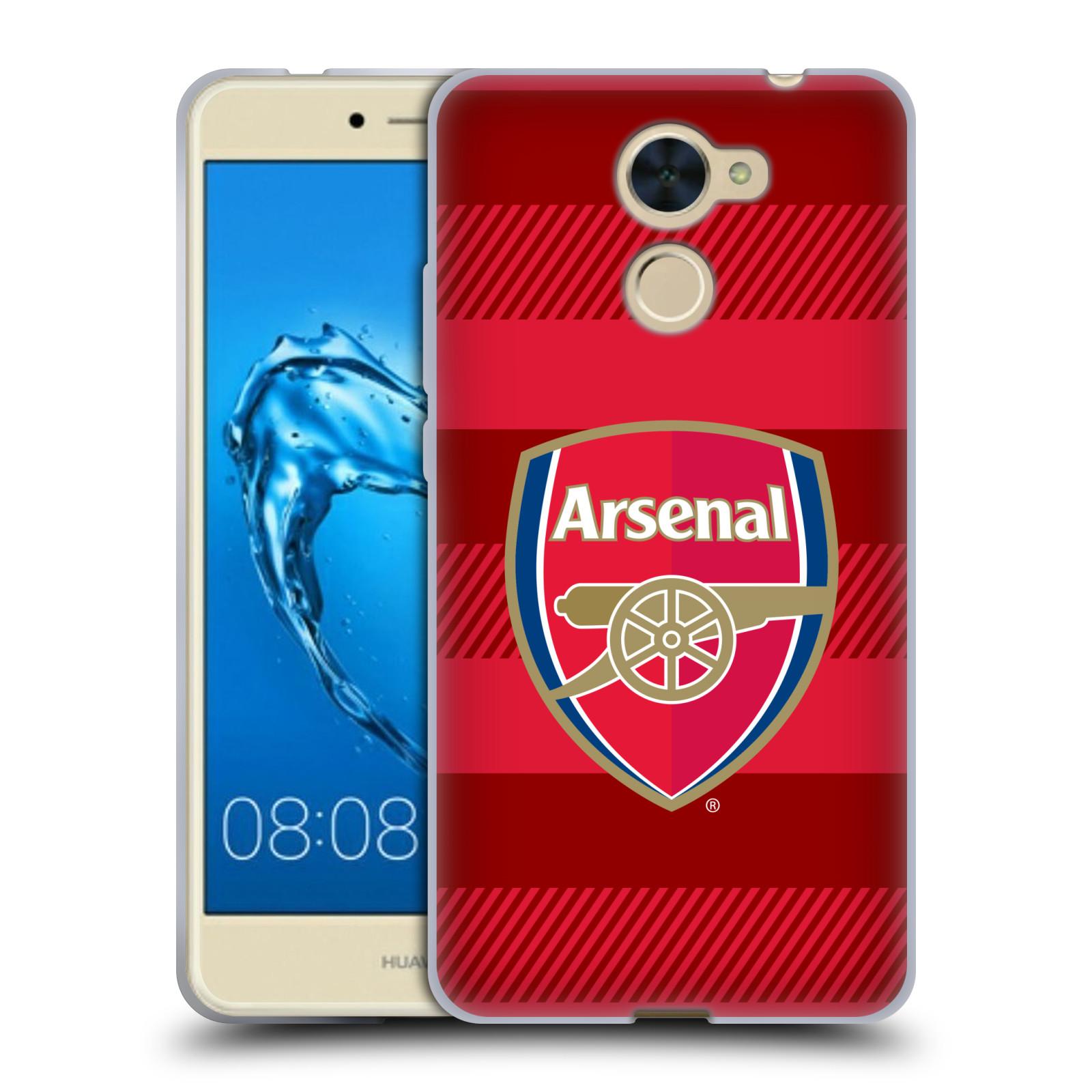 Silikonové pouzdro na mobil Huawei Y7 - Head Case - Arsenal FC - Logo s pruhy