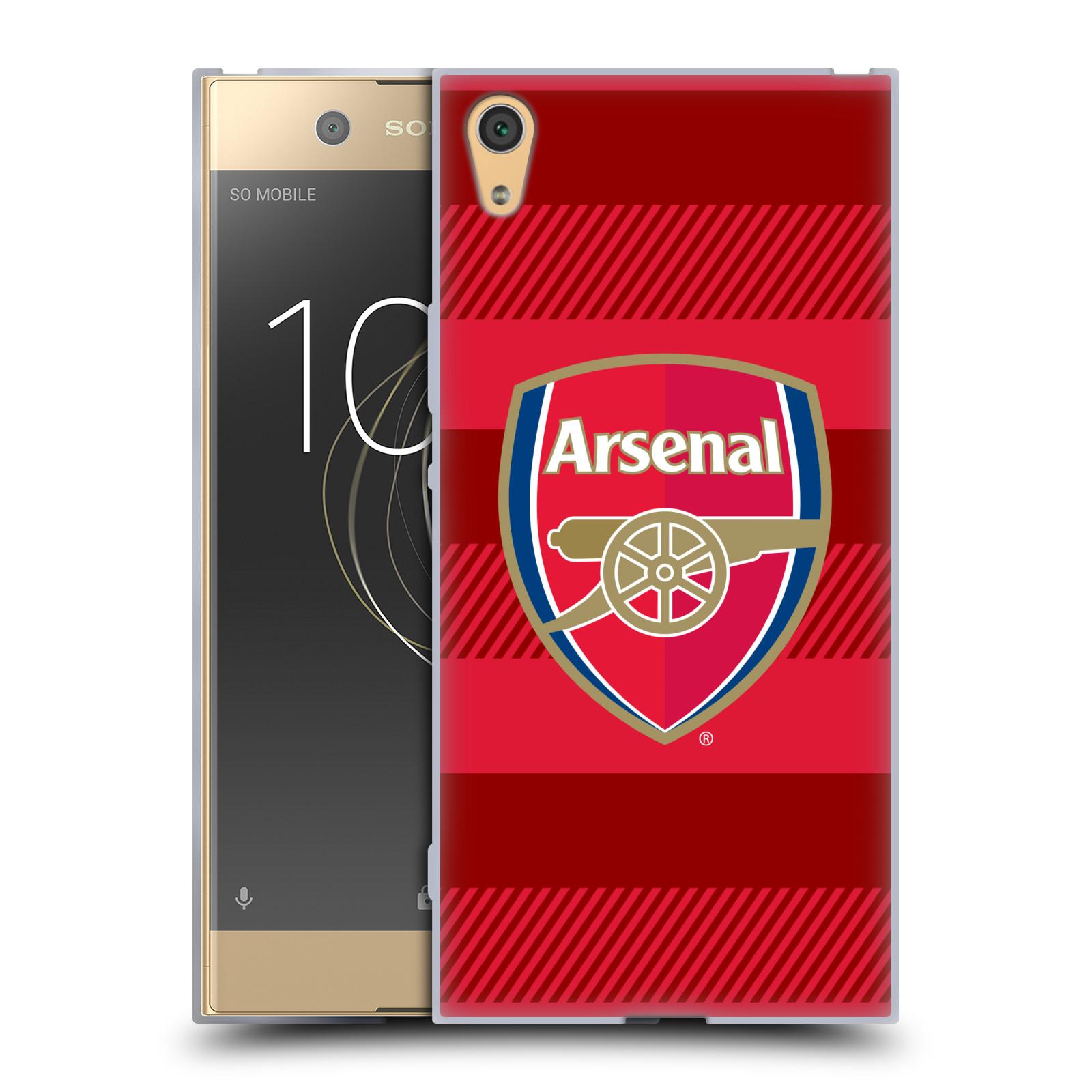 Silikonové pouzdro na mobil Sony Xperia XA1 Ultra - Head Case - Arsenal FC - Logo s pruhy