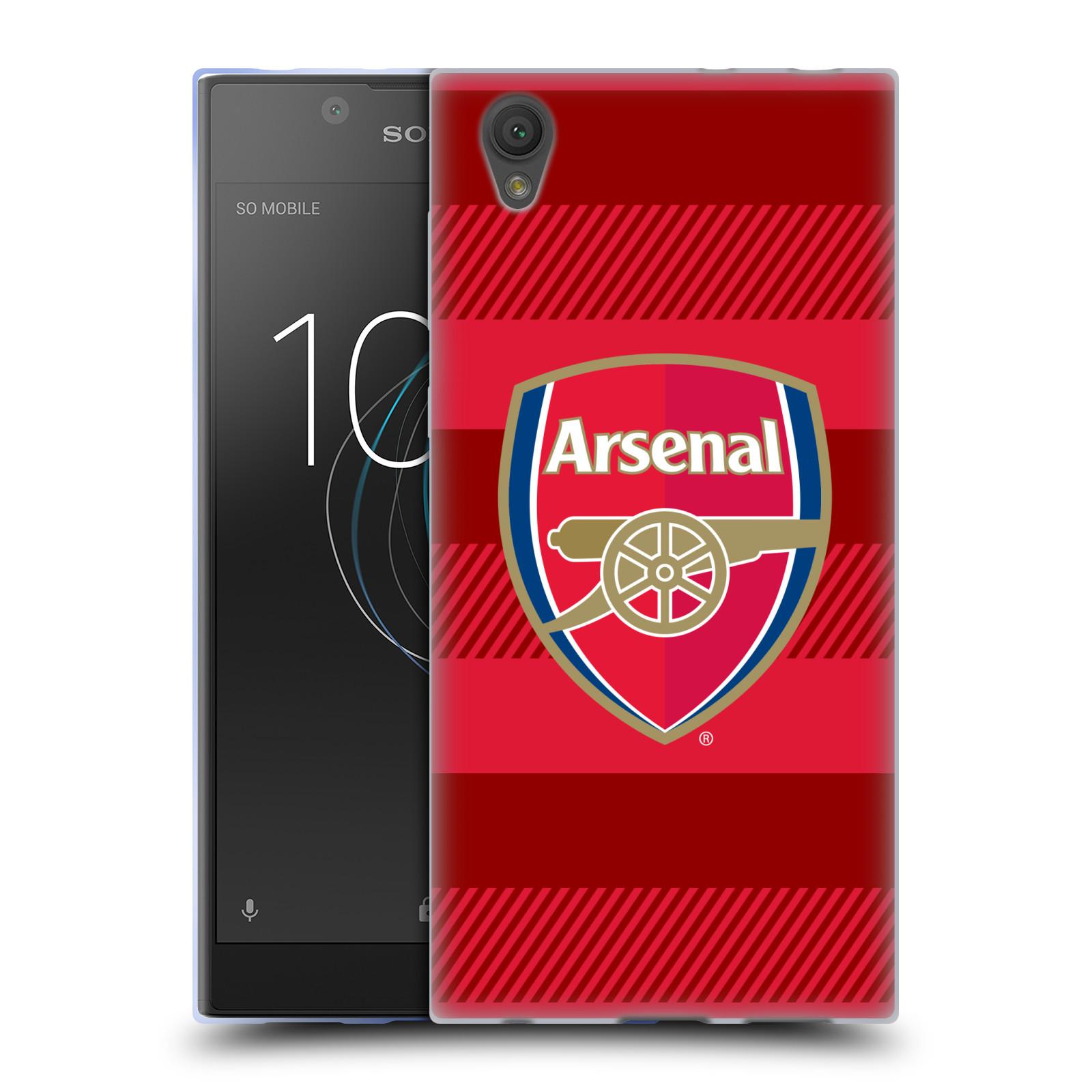 Silikonové pouzdro na mobil Sony Xperia L1 - Head Case - Arsenal FC - Logo s pruhy