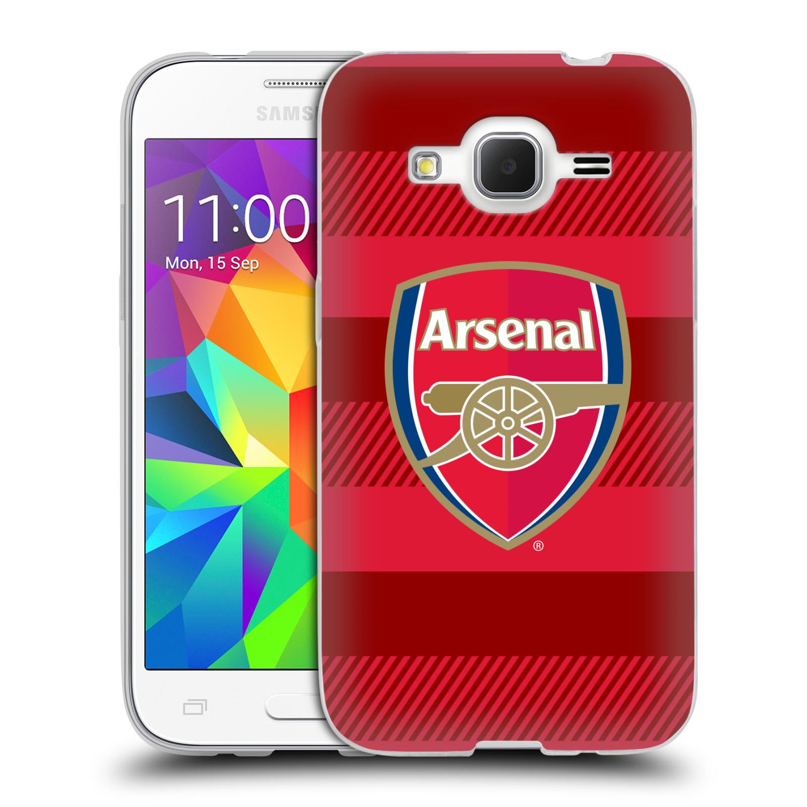 Silikonové pouzdro na mobil Samsung Galaxy Core Prime LTE - Head Case - Arsenal FC - Logo s pruhy