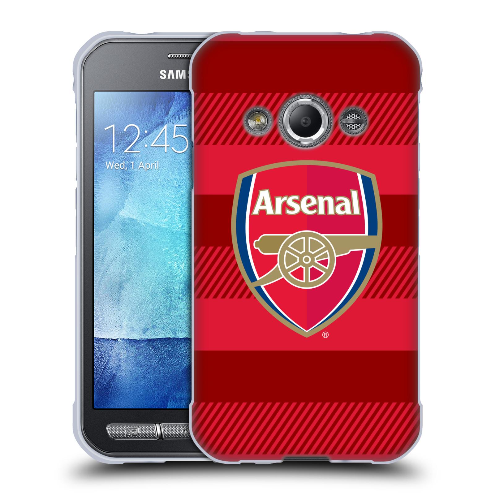 Silikonové pouzdro na mobil Samsung Galaxy Xcover 3 - Head Case - Arsenal FC - Logo s pruhy