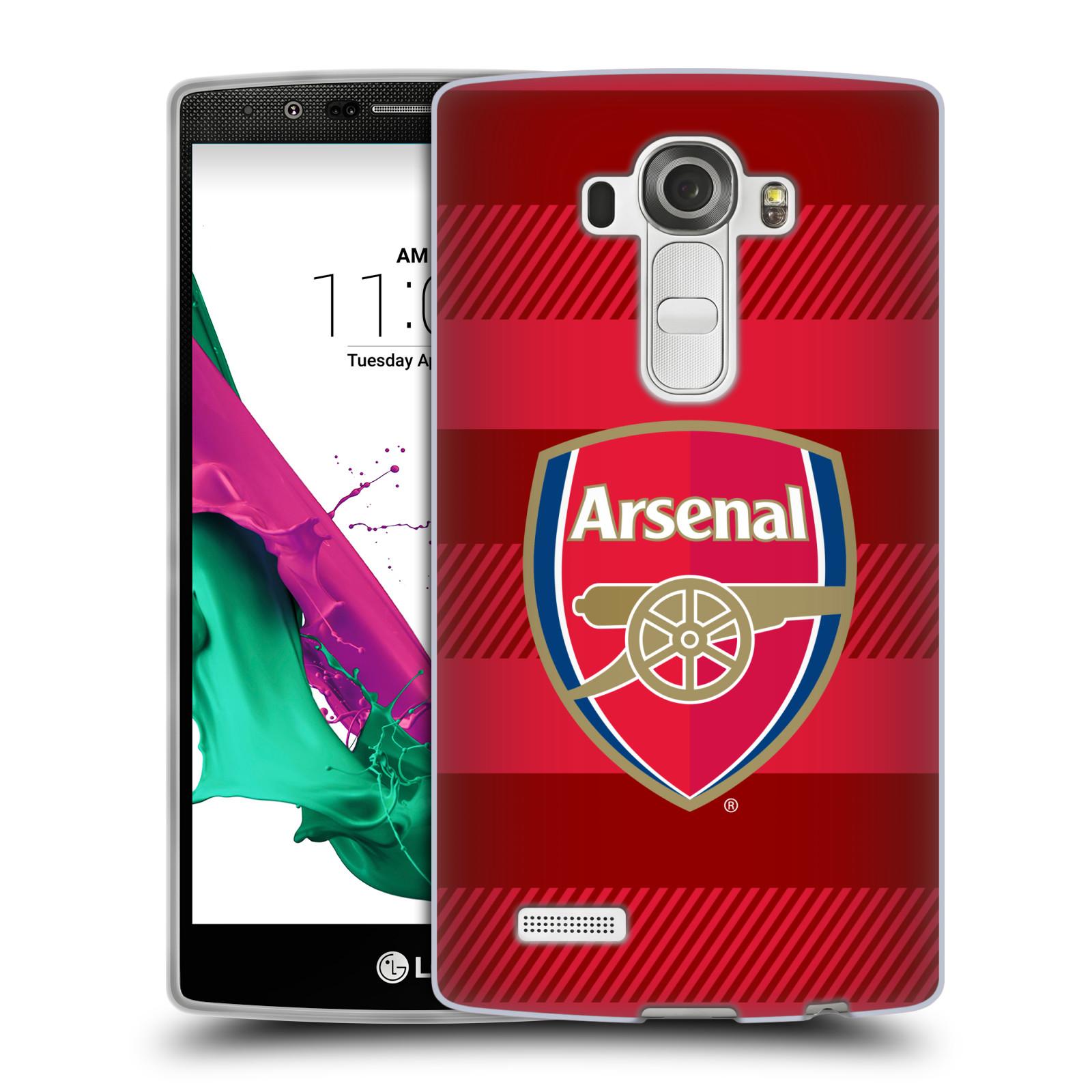Silikonové pouzdro na mobil LG G4 - Head Case - Arsenal FC - Logo s pruhy