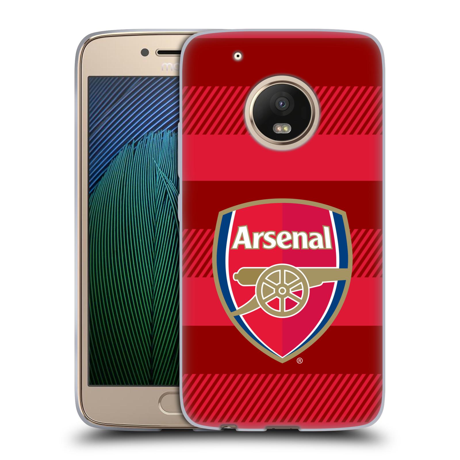 Silikonové pouzdro na mobil Lenovo Moto G5 Plus - Head Case - Arsenal FC - Logo s pruhy