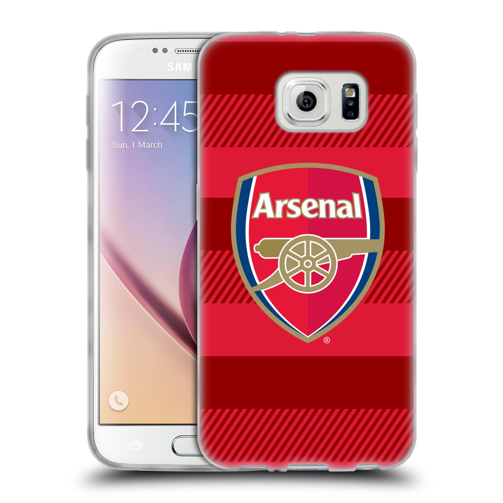 Silikonové pouzdro na mobil Samsung Galaxy S6 - Head Case - Arsenal FC - Logo s pruhy