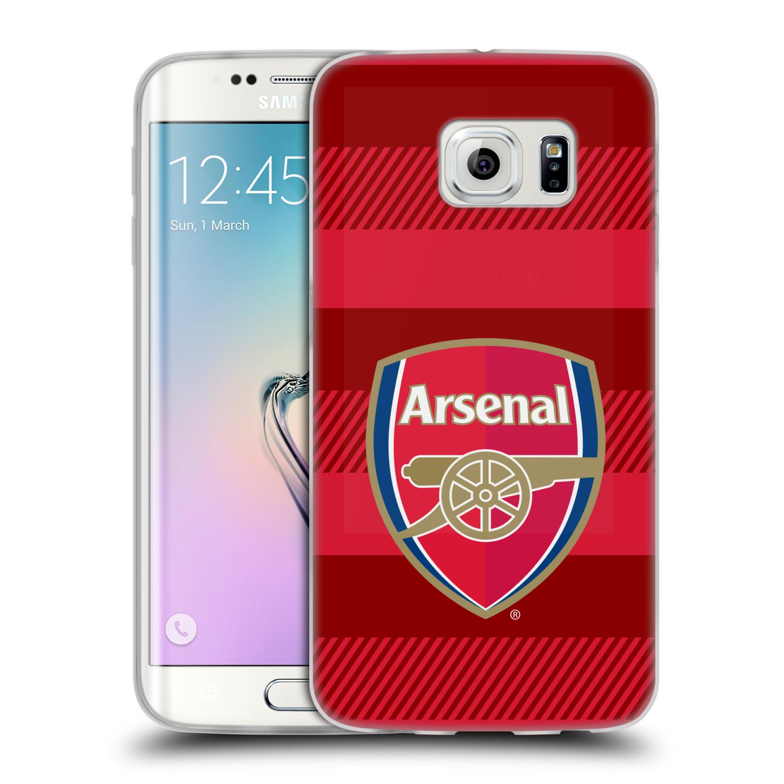 Silikonové pouzdro na mobil Samsung Galaxy S6 Edge - Head Case - Arsenal FC - Logo s pruhy