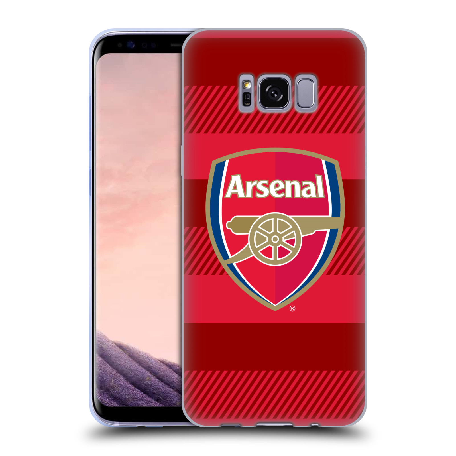 Silikonové pouzdro na mobil Samsung Galaxy S8 - Head Case - Arsenal FC - Logo s pruhy