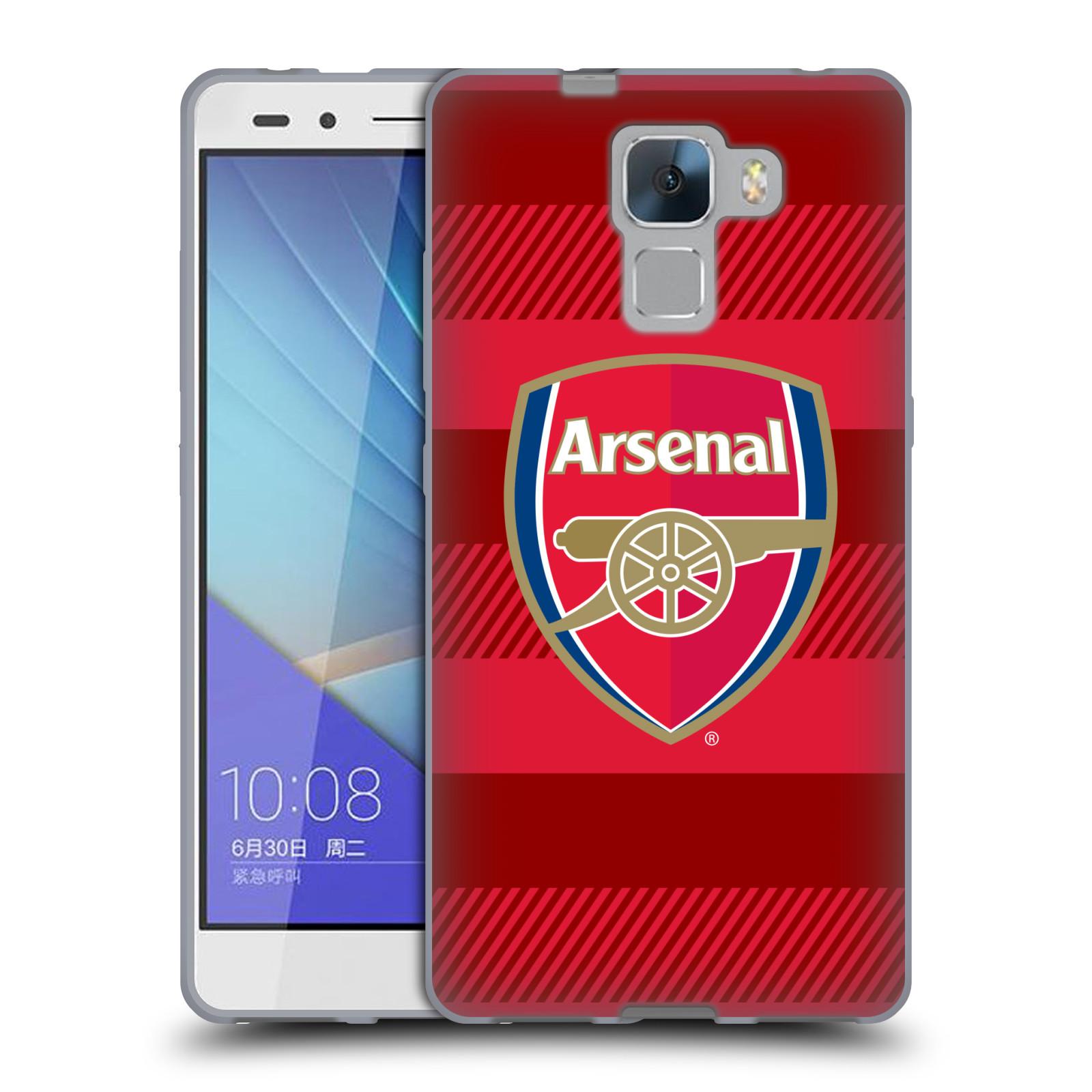 Silikonové pouzdro na mobil Honor 7 - Head Case - Arsenal FC - Logo s pruhy
