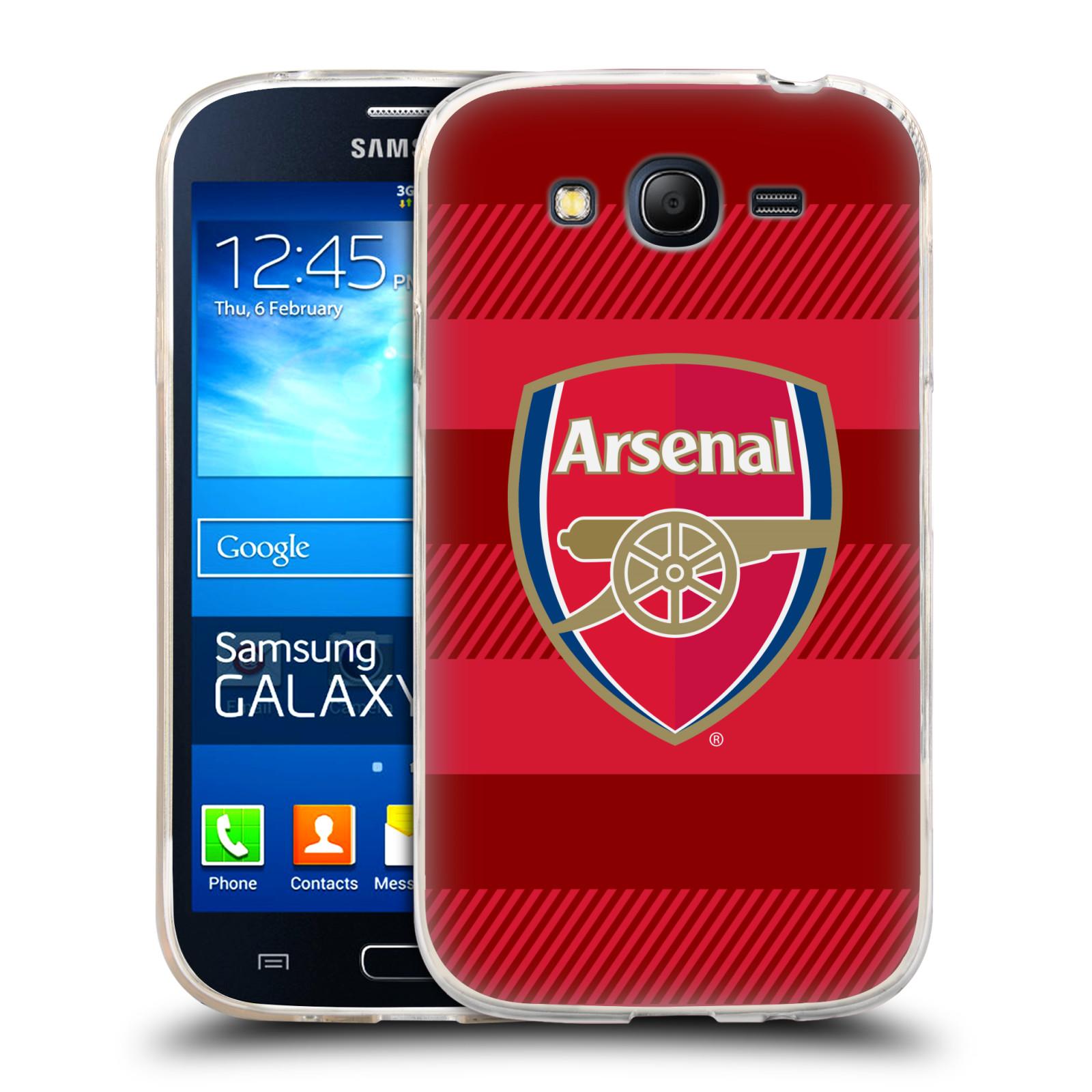 Silikonové pouzdro na mobil Samsung Galaxy Grand Neo - Head Case - Arsenal FC - Logo s pruhy