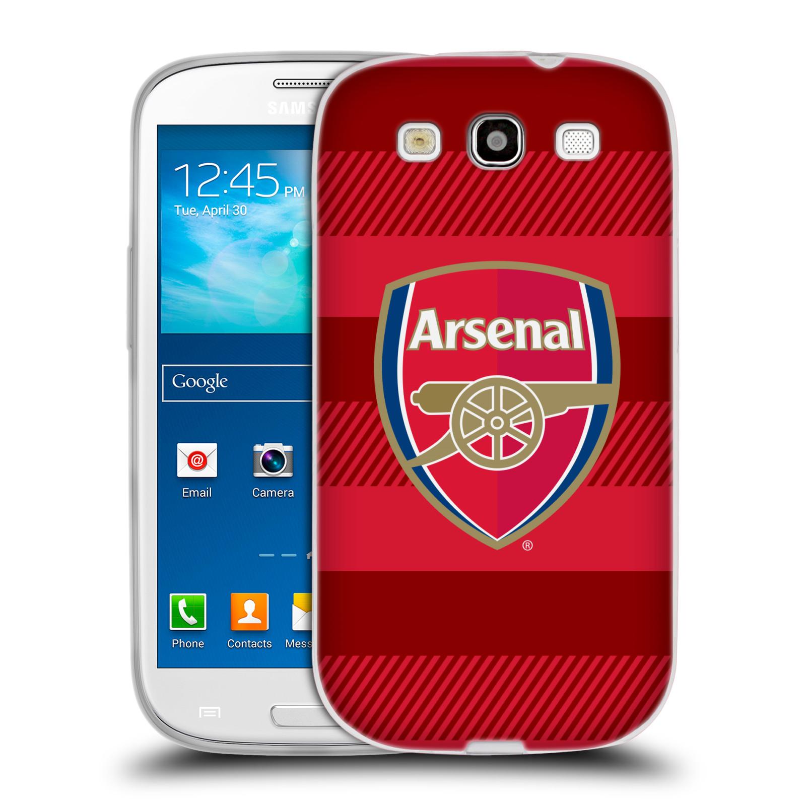 Silikonové pouzdro na mobil Samsung Galaxy S3 Neo - Head Case - Arsenal FC - Logo s pruhy
