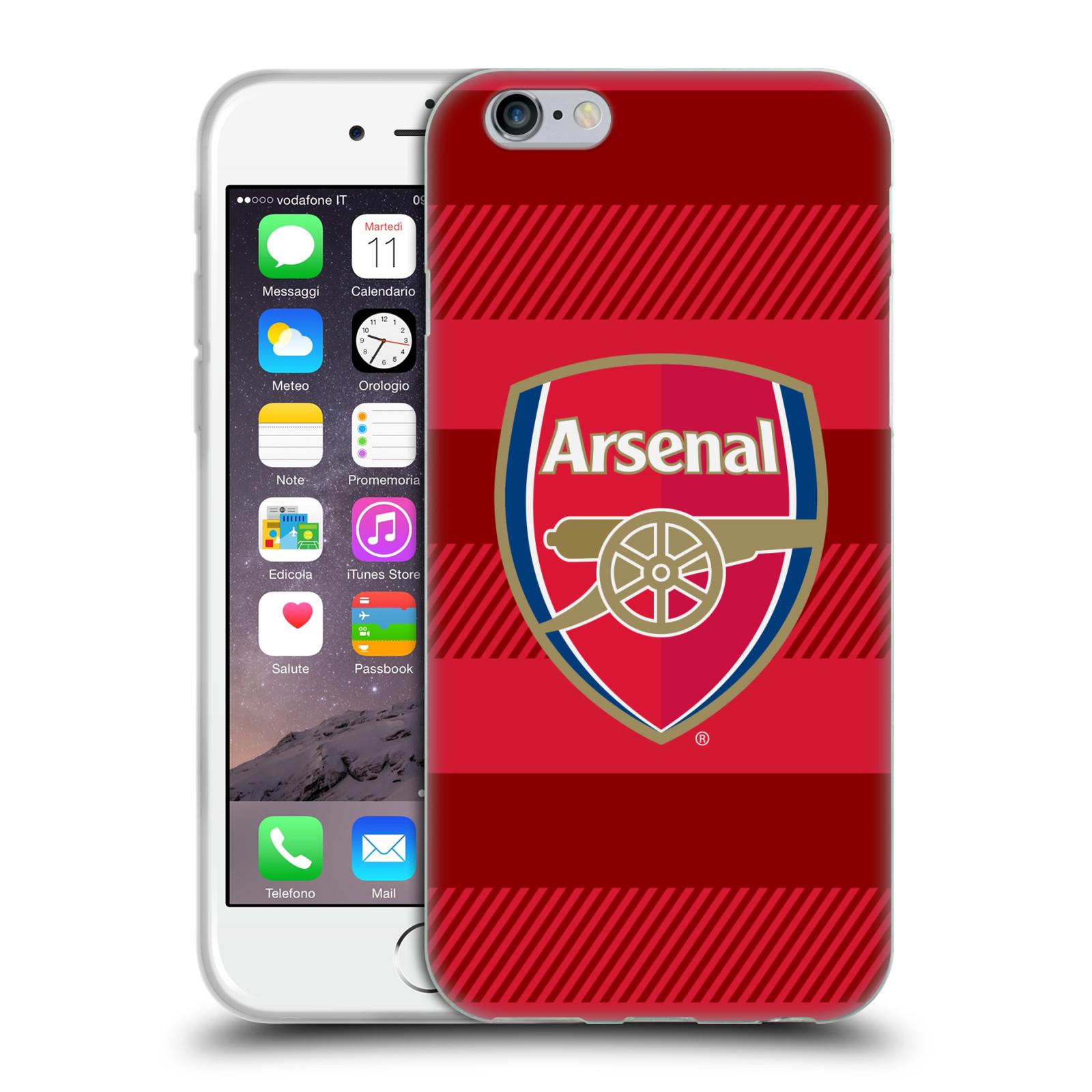 Silikonové pouzdro na mobil Apple iPhone 6 - Head Case - Arsenal FC - Logo s pruhy
