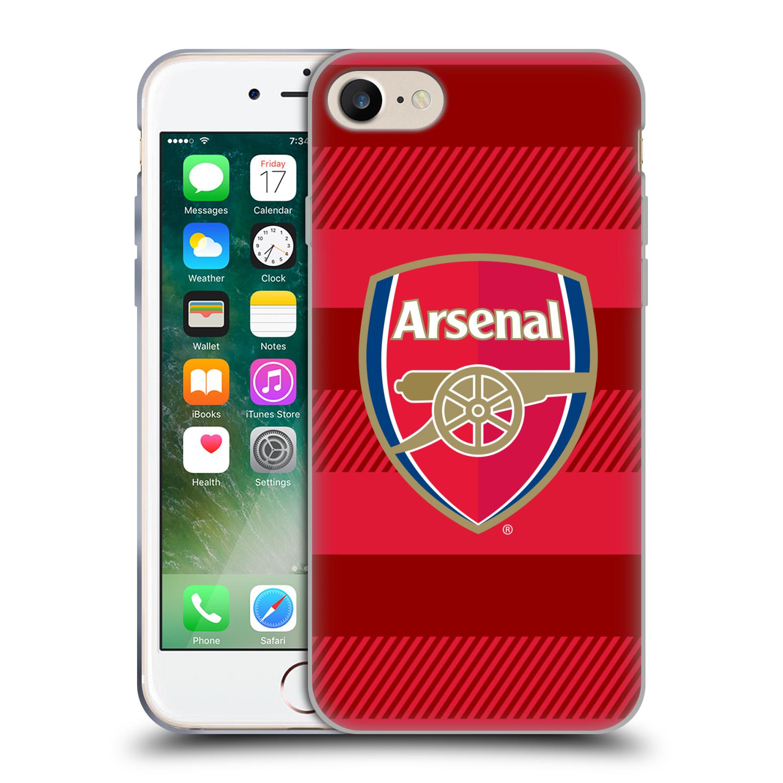 Silikonové pouzdro na mobil Apple iPhone 8 - Head Case - Arsenal FC - Logo s pruhy