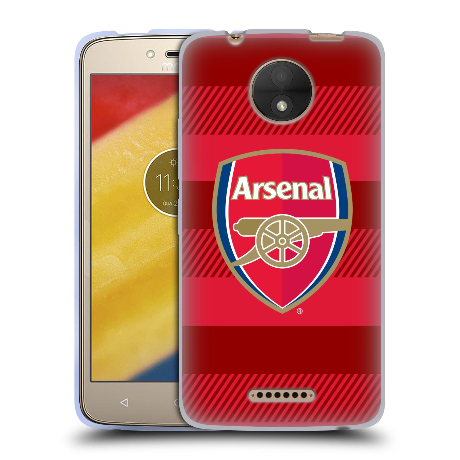 Silikonové pouzdro na mobil Lenovo Moto C - Head Case - Arsenal FC - Logo s pruhy