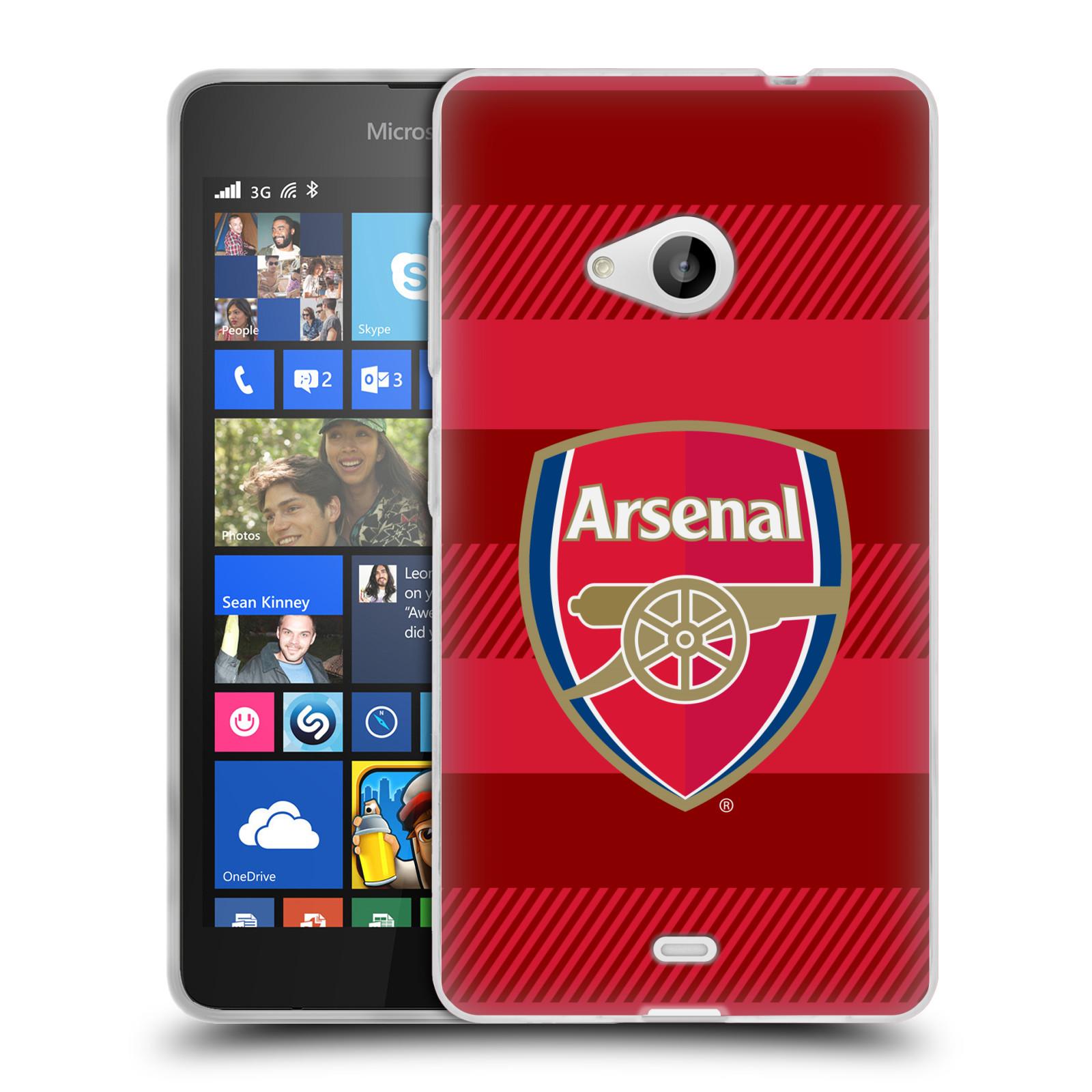 Silikonové pouzdro na mobil Microsoft Lumia 535 - Head Case - Arsenal FC - Logo s pruhy