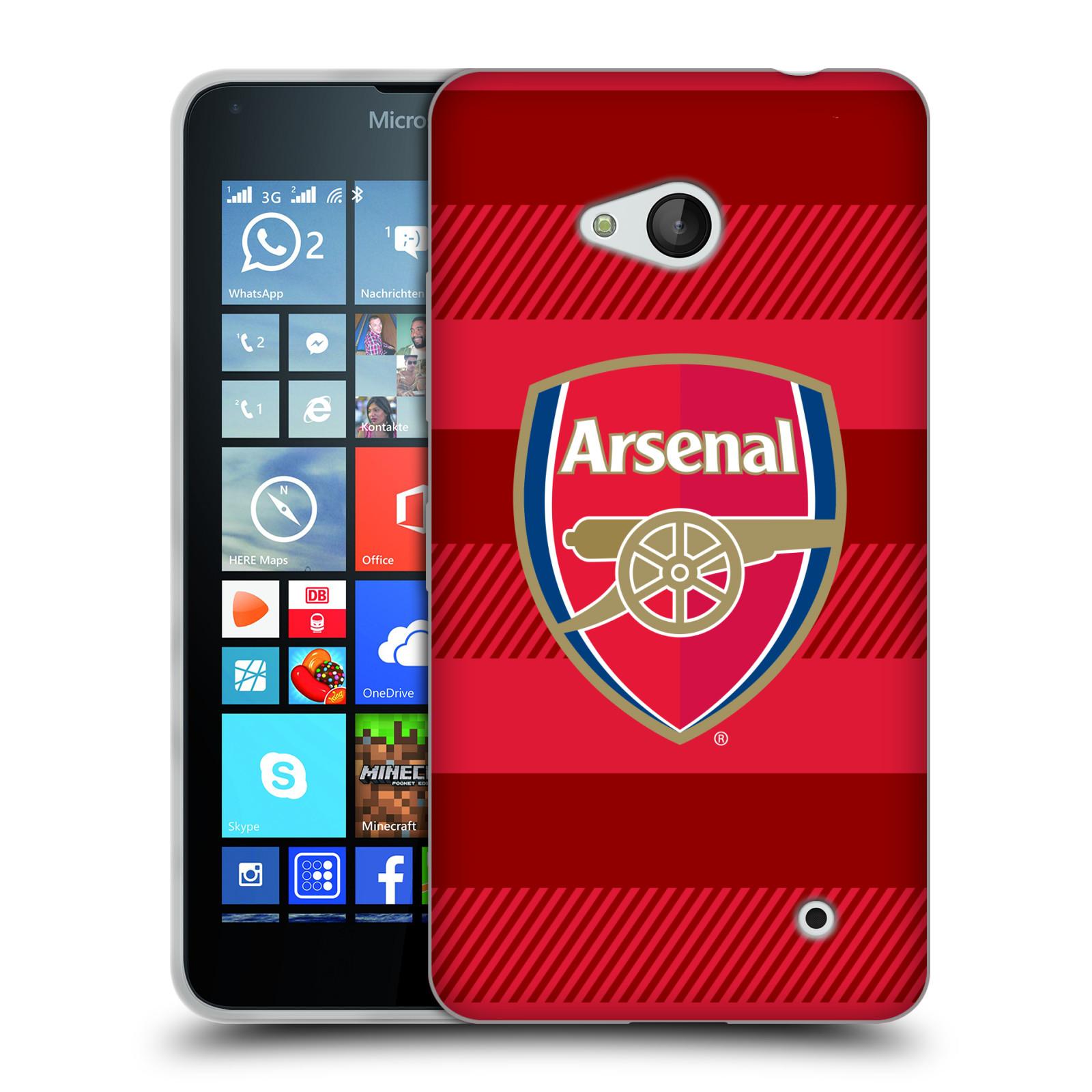 Silikonové pouzdro na mobil Microsoft Lumia 640 - Head Case - Arsenal FC - Logo s pruhy