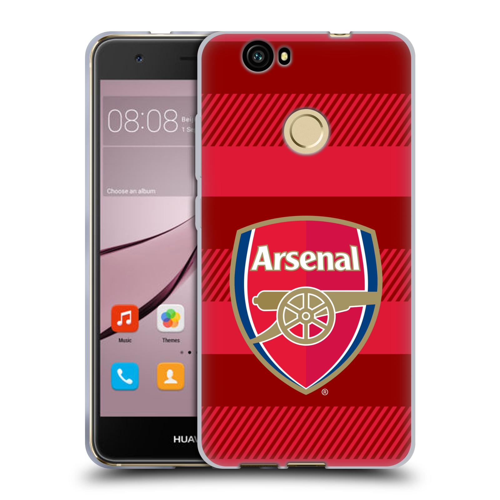 Silikonové pouzdro na mobil Huawei Nova - Head Case - Arsenal FC - Logo s pruhy