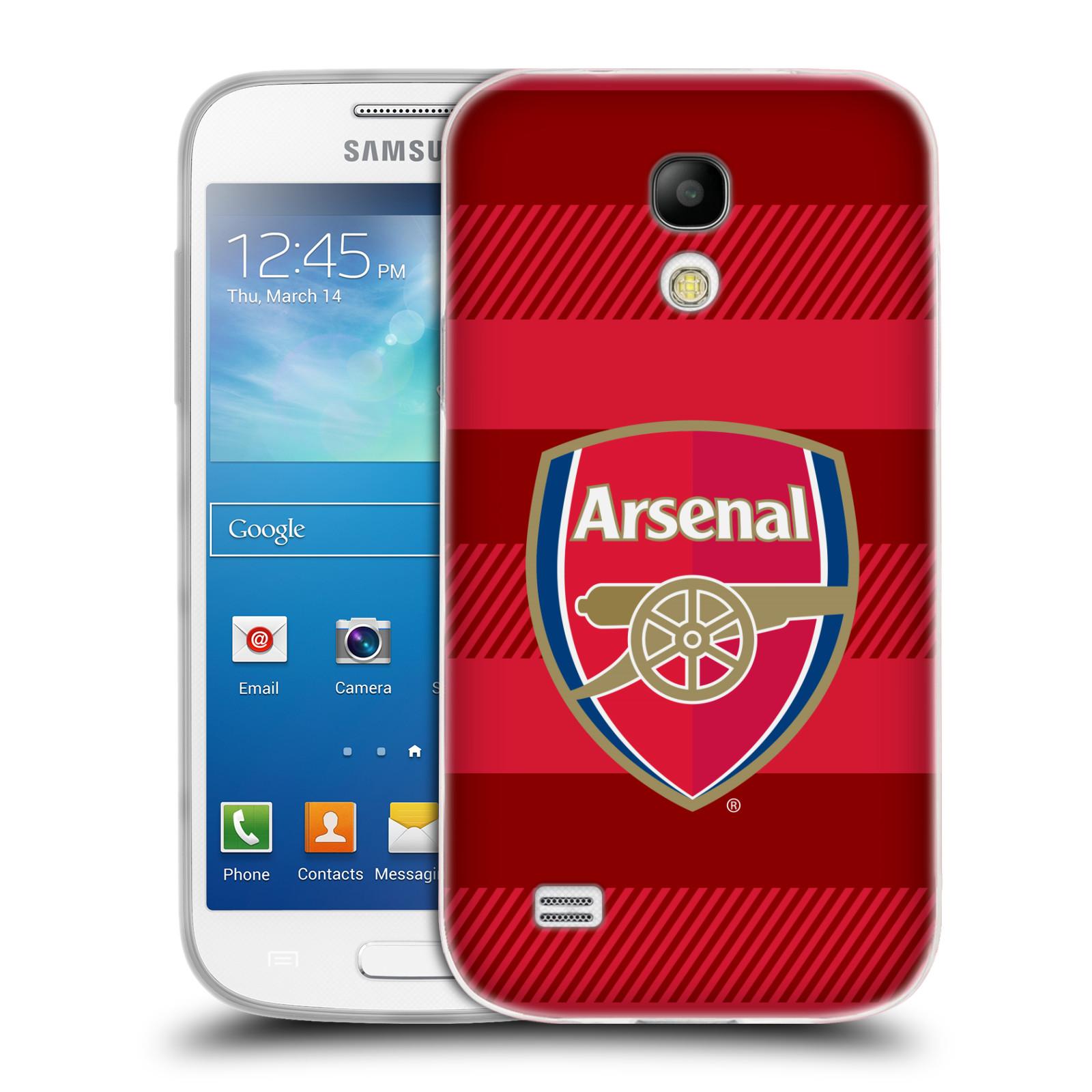 Silikonové pouzdro na mobil Samsung Galaxy S4 Mini - Head Case - Arsenal FC - Logo s pruhy