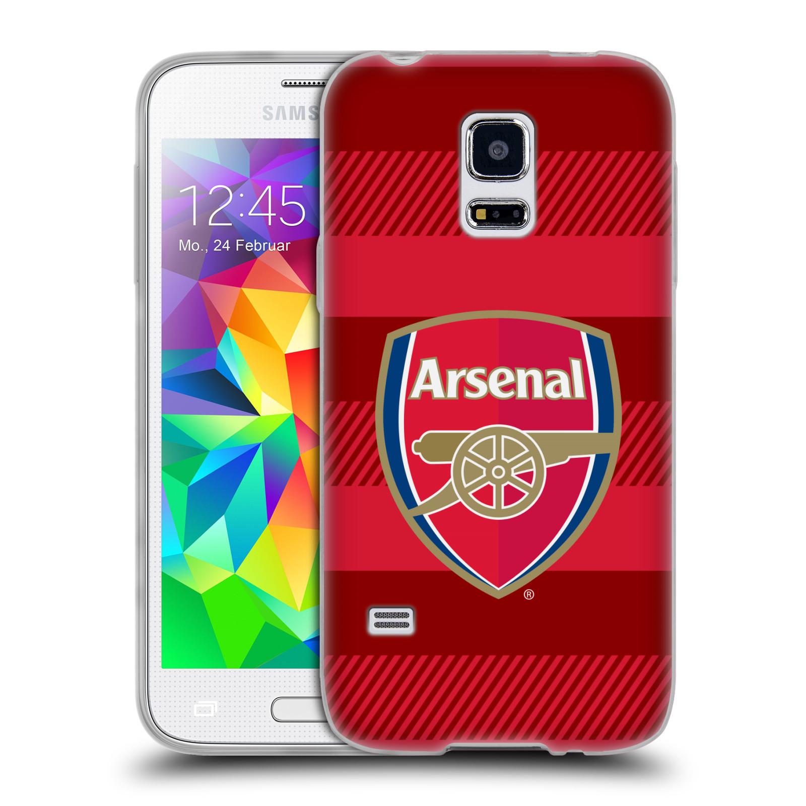 Silikonové pouzdro na mobil Samsung Galaxy S5 Mini - Head Case - Arsenal FC - Logo s pruhy