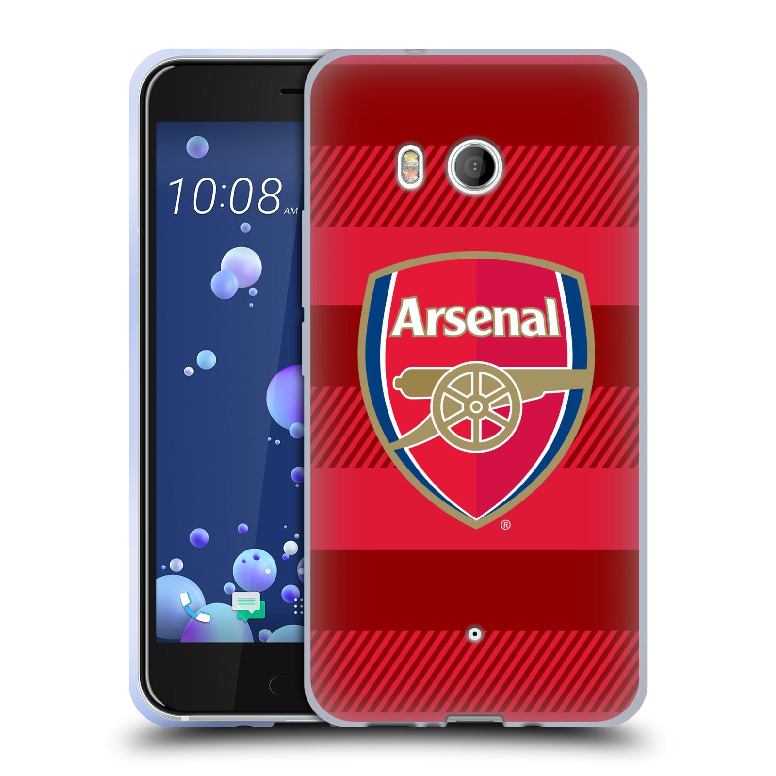 Silikonové pouzdro na mobil HTC U11 - Head Case - Arsenal FC - Logo s pruhy